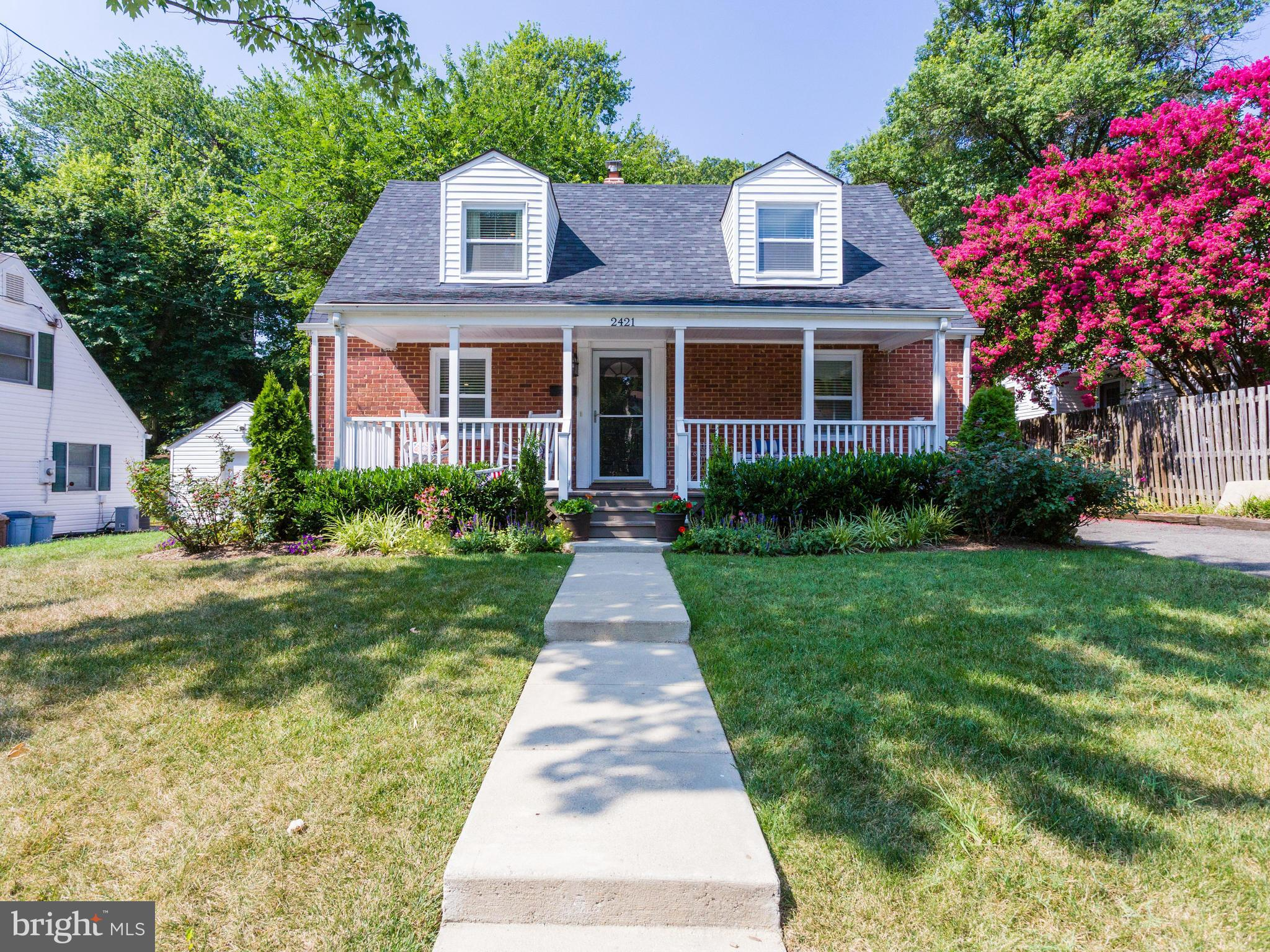 OPEN SAT1-3 Walking distance to Huntington Metro. Bright and cheerful 4 bedroom Cape Cod completely renovated from top to bottom 4 years ago. Gorgeous stainless steel and granite kitchen w/ maple cabinets and a breakfast nook. Front porch and large back deck for entertaining and huge fenced in yard with shed. Hardwood floors on main level. No HOA