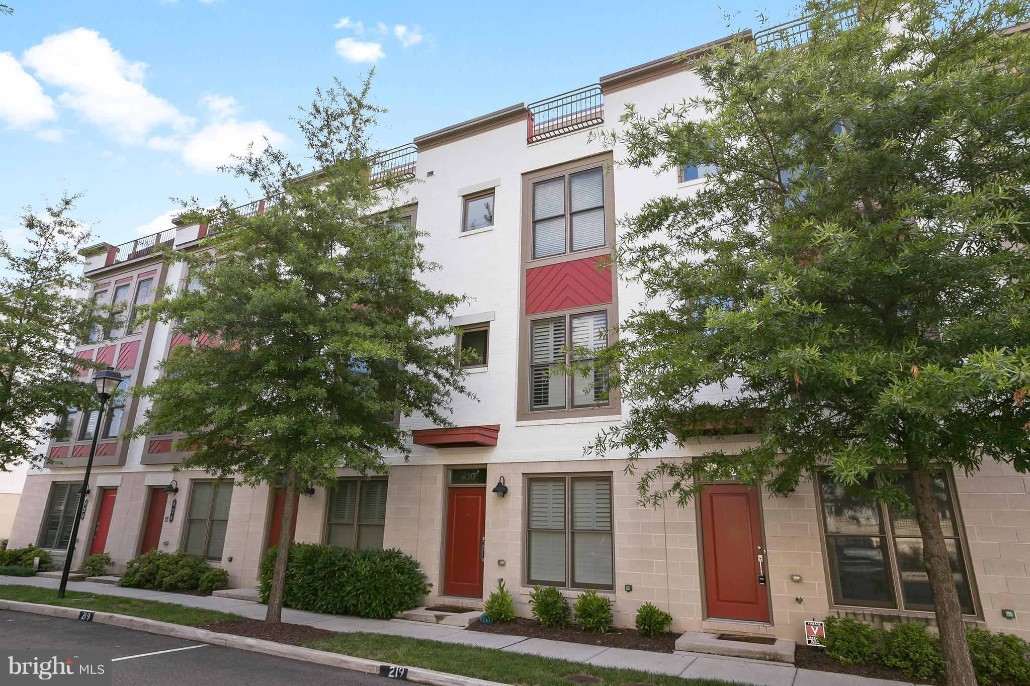 Beautiful EYA Townhome in Old Town. 4 levels with 1 deck off kitchen & 1 large sundeck off of 4th level! 1 car garage. 4 bedrooms/3.5 baths and just under 2,000 sqft. Walk to Braddock Rd Metro. Gourmet kitchen w/ SS appliances, granite counter tops. Open concept. Beds w/ attached bathrooms. 4th level loft/rec area, LL office/den. Walk to groceries, restaurants & shopping of Old Town!