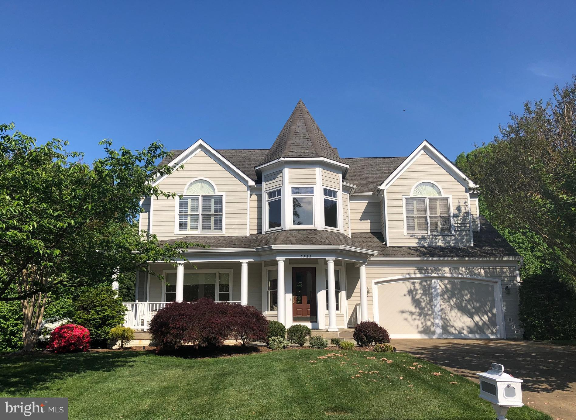 Light-filled, custom built colonial. Shows like a model home. Updated & filled w/architectural features.  3,096 fin sq. feet above grade. Walkout lower level with large office/5th. bedroom & full bathroom. Large windows overlooking woods. Unfin. area can easily be converted into rec room. Large private deck off family room. 2 car garage. Mins to DC, and Old Town Alexandria. Close to three Metros.