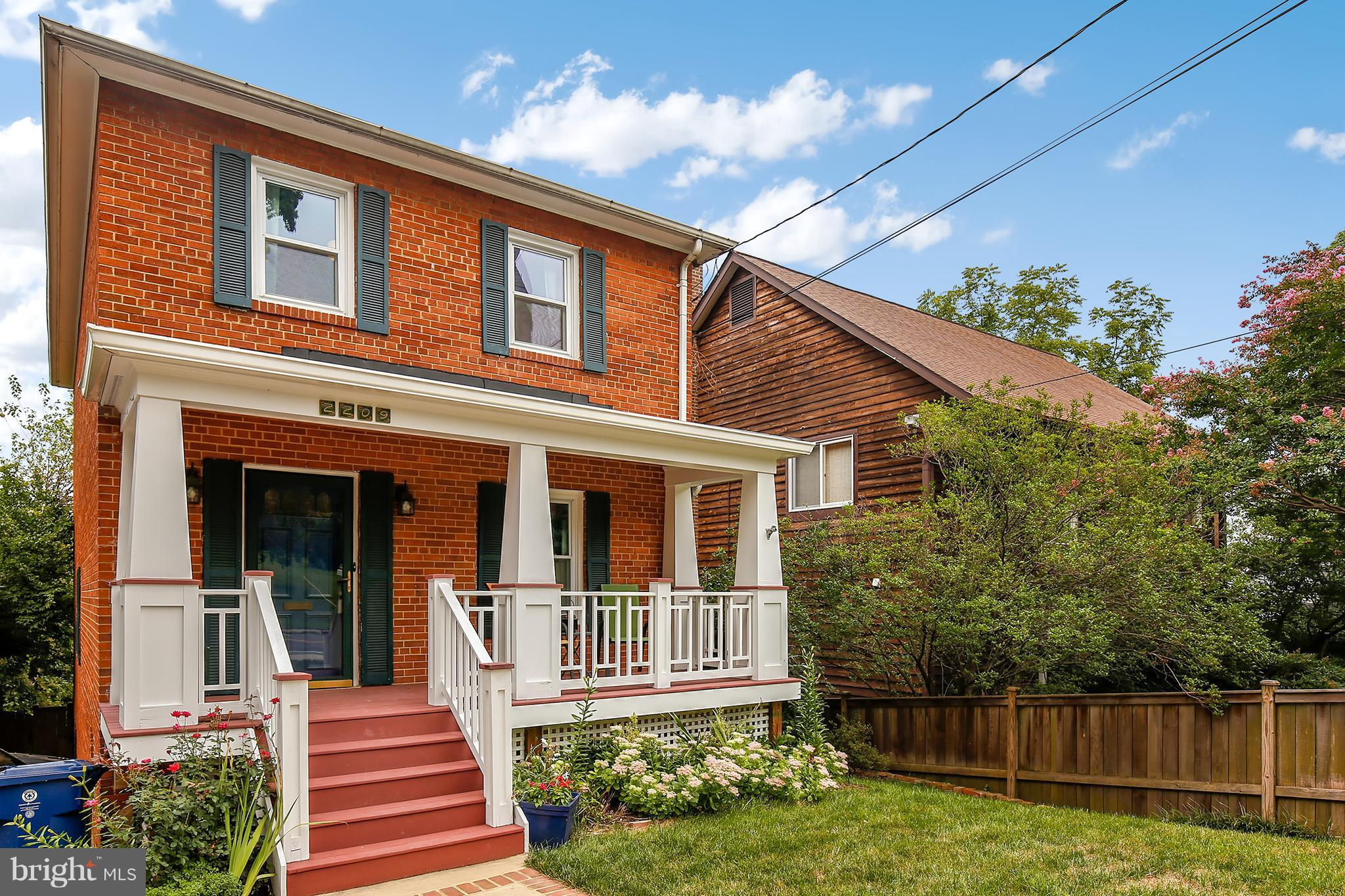This updated gem features 3 bedrooms, 2.5 baths, and 2 decks in the shadow of the Masonic Temple. Offering all of the ambiance of a close-knit community but the conveniences of city living it~s less than a half mile to Metro/Amtrak & easy to 495- ideal for any commuter. The home flows beautifully.  Highlights include a finished walk-out basement, two gas fireplaces and a fully fenced backyard.