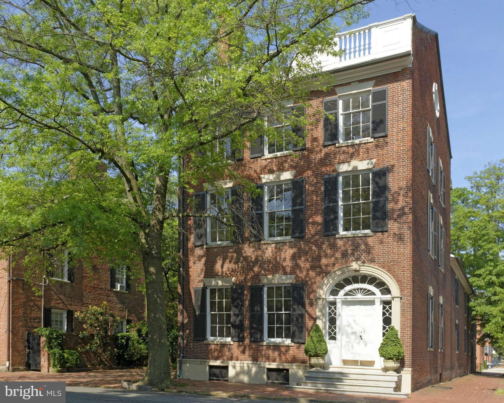 Known for its grand Georgian architecture, the historic Lafayette House was also home to Nelly Custis Lewis and other notable Virginians. Offering 12' ceilings, elegant double parlors, a 42' long entry hall and floating 3 story staircase, a fully enclosed walled garden and off street parking for several cars, this is exceptional. Preservation easement. Chimneys convey in as is condition. By appt.