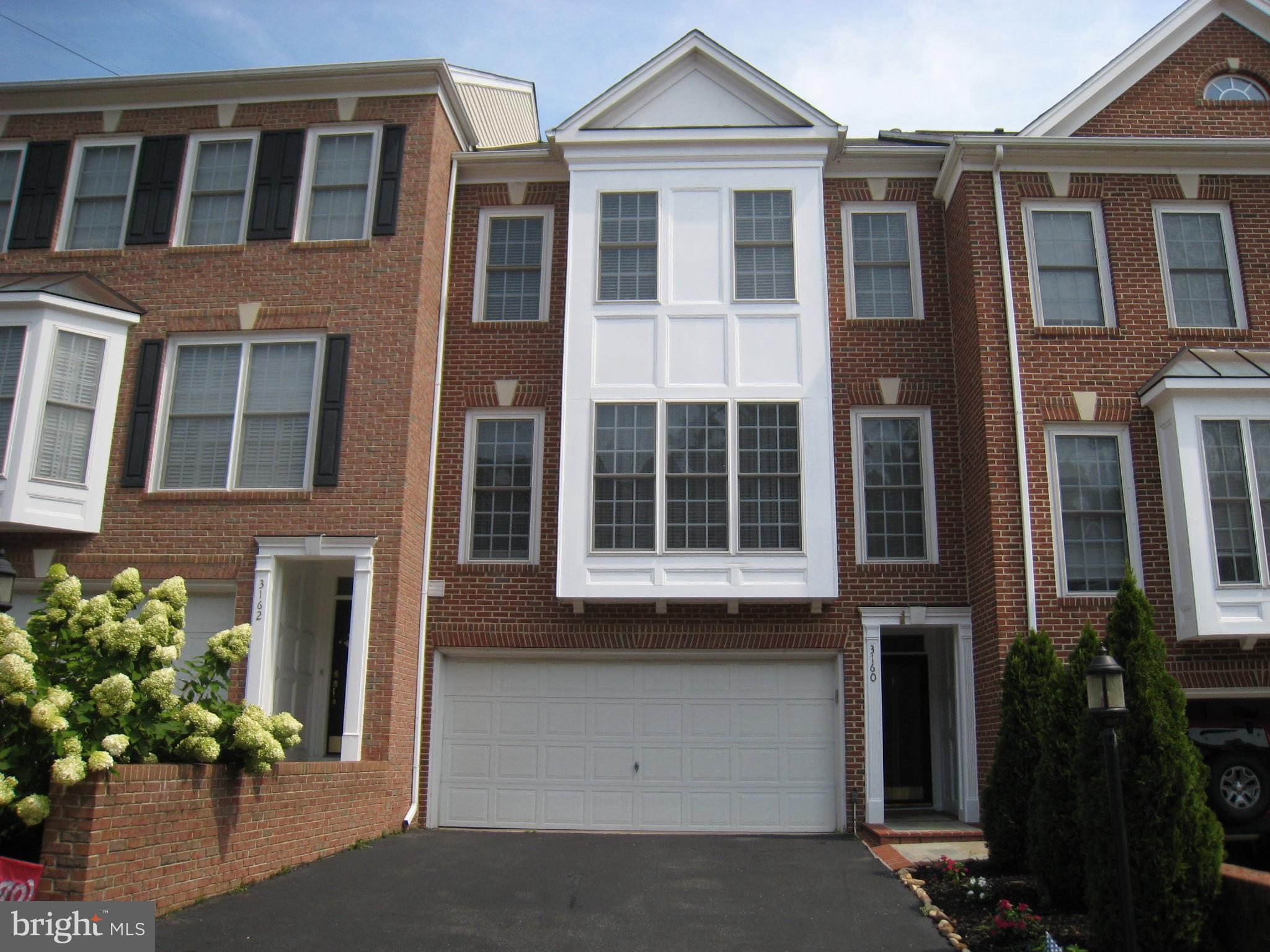 Beautiful super-townhouse 3 Bedrooms, 2.5 Bathrooms, partial furnished. Minutes from Washington DC, and easy access to transit including buses, Metro, and I-495. Huge deck backing to trees, Palladian windows in LR, hardwood floors, cherry cabinets, granite counters, gas fireplace, walk-out brick patio, & 2-car garage. Playground, tennis court, dog run, & trail within community.