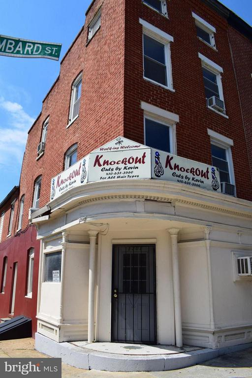 Own your own Business !!!  Great opportunity for Investors to add to their portfolio - An operating Barbershop with a 2 bed room apt upstairs.  Neighborhood is close to downtown Baltimore, University of MD Medical Systems, Oriole Park at Camden and M&T Stadiums. You don't want to let this one get by you.