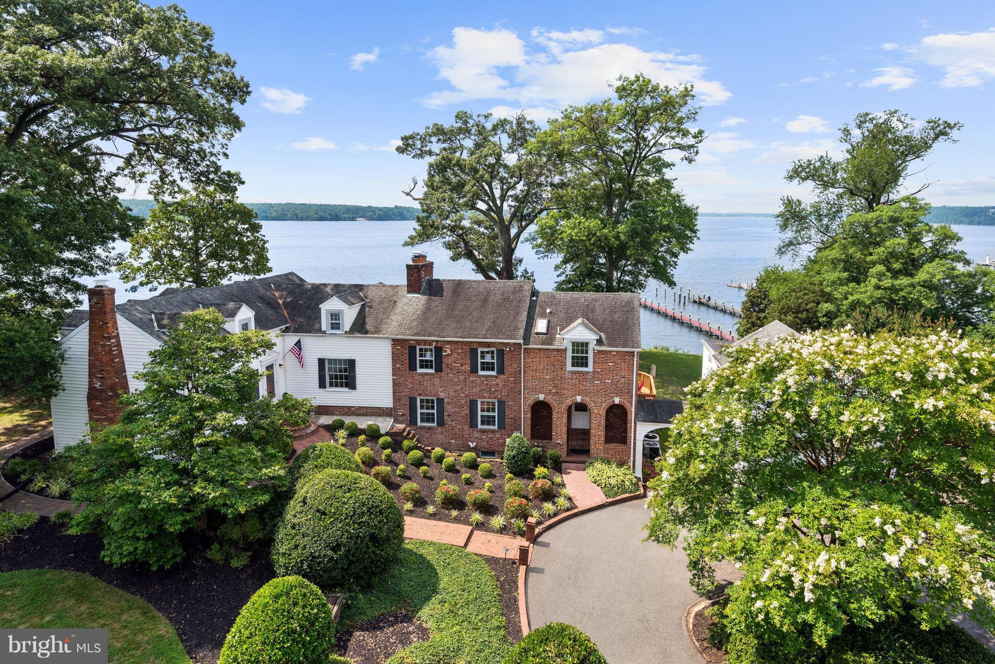 Steeped in American history, York Landing features a magnificent private home on the Potomac River. This waterfront property is nearly 2 acres, with 8-mile-wide panoramic water views. Finished on 4 levels and retaining period charm, the house is updated and lives in a comfortable way. The 2 master suites, 3 fireplaces, 3-car garage, private dock and 2 guest houses complete this welcoming estate.