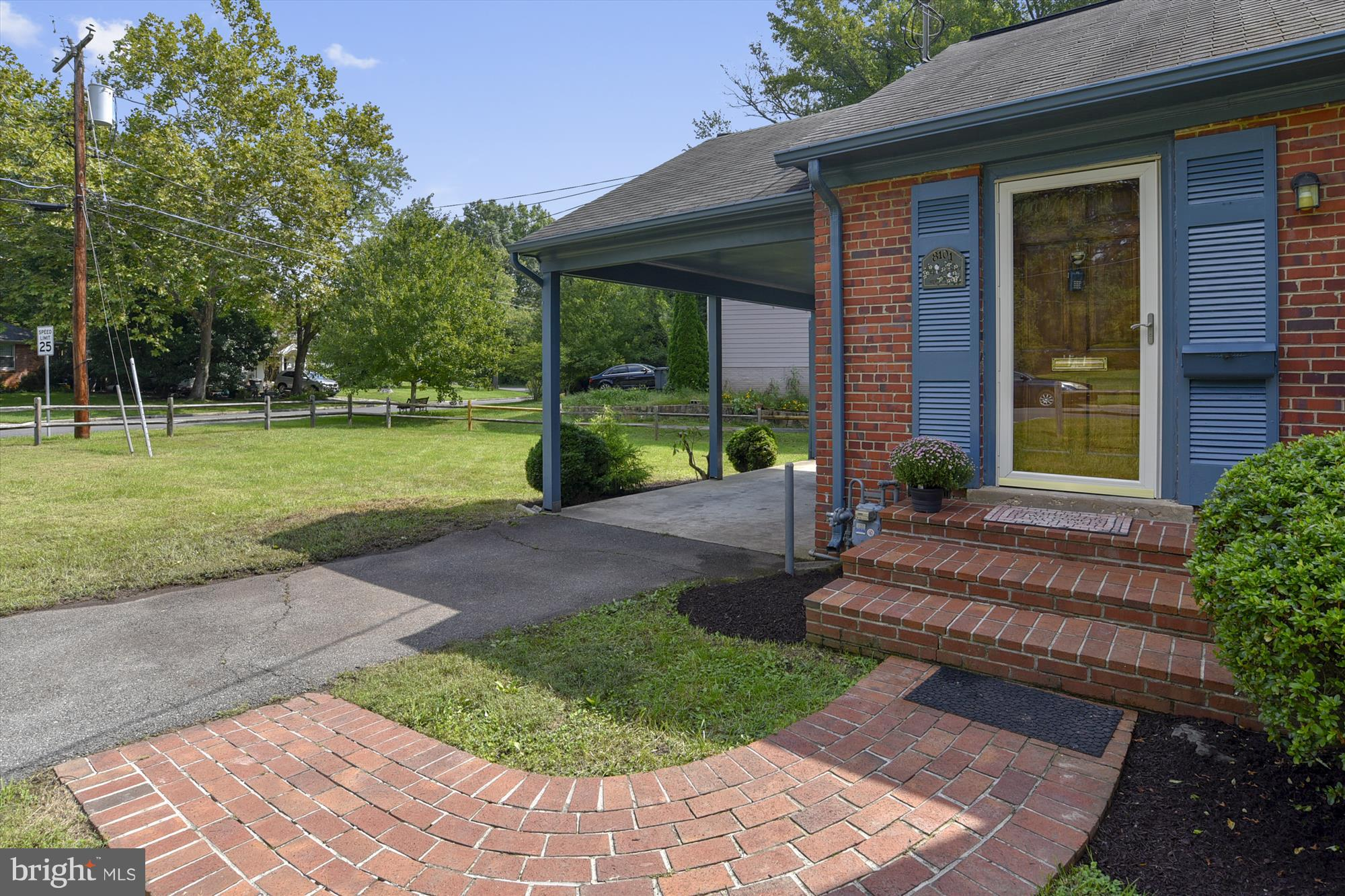 OPEN SAT & SUN 1 to 3 PM. Hurry over to 3 BR 2 BA home on a quiet corner lot in Hollin Hall Village w/driveway, & carport. Under 500K. Comfortable home in good shape w/rare front wall LR fireplace. New paint throughout. Refinished hardwoods in LR, DR and 2 BRs. Waynewood school district. 5 minute walk thru the woods next door to Mt Vernon Pool (membership required) Gas heat and cooking.