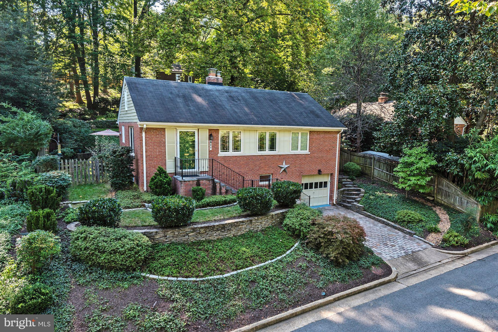 Located in the desirable Rosemont/Braddock Heights area.  Situated on a Pastoral Private  Professional Landscape Property, this meticulously renovated Brick Home features  a Gourmet Kitchen with custom cabinets, stainless steel appliances and granite counters. Lower Level Rec Room with access to the Garage. CLOSE PROXIMITY TO THE BRADDOCK ROAD AND KING STREET METROS.