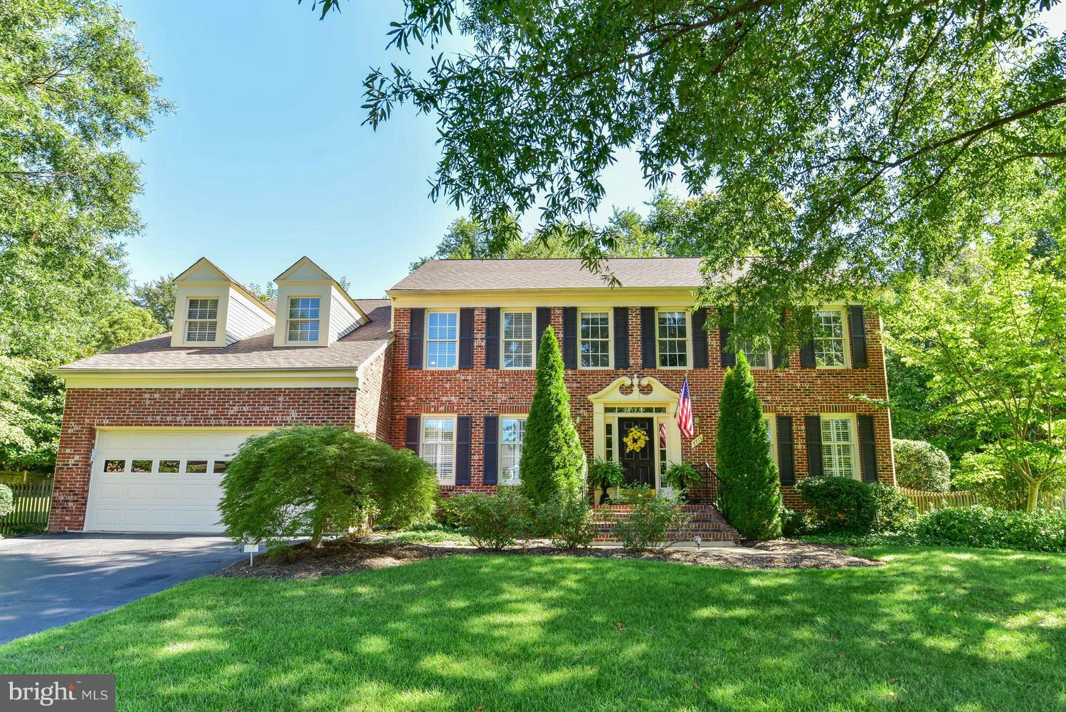 Elegant colonial in sought after Kirkside offers gracious, open floor plan for entertaining and comfortable daily living.  Freshly painted. AC and hot water heater replaced in 2017.  New carpet on upper level and main level bedroom(2018) and many more improvements. Mature landscaping, expansive trek deck, flagstone patio and sport court. Over 4100 SF  SEE TOUR for more pics and floor plans
