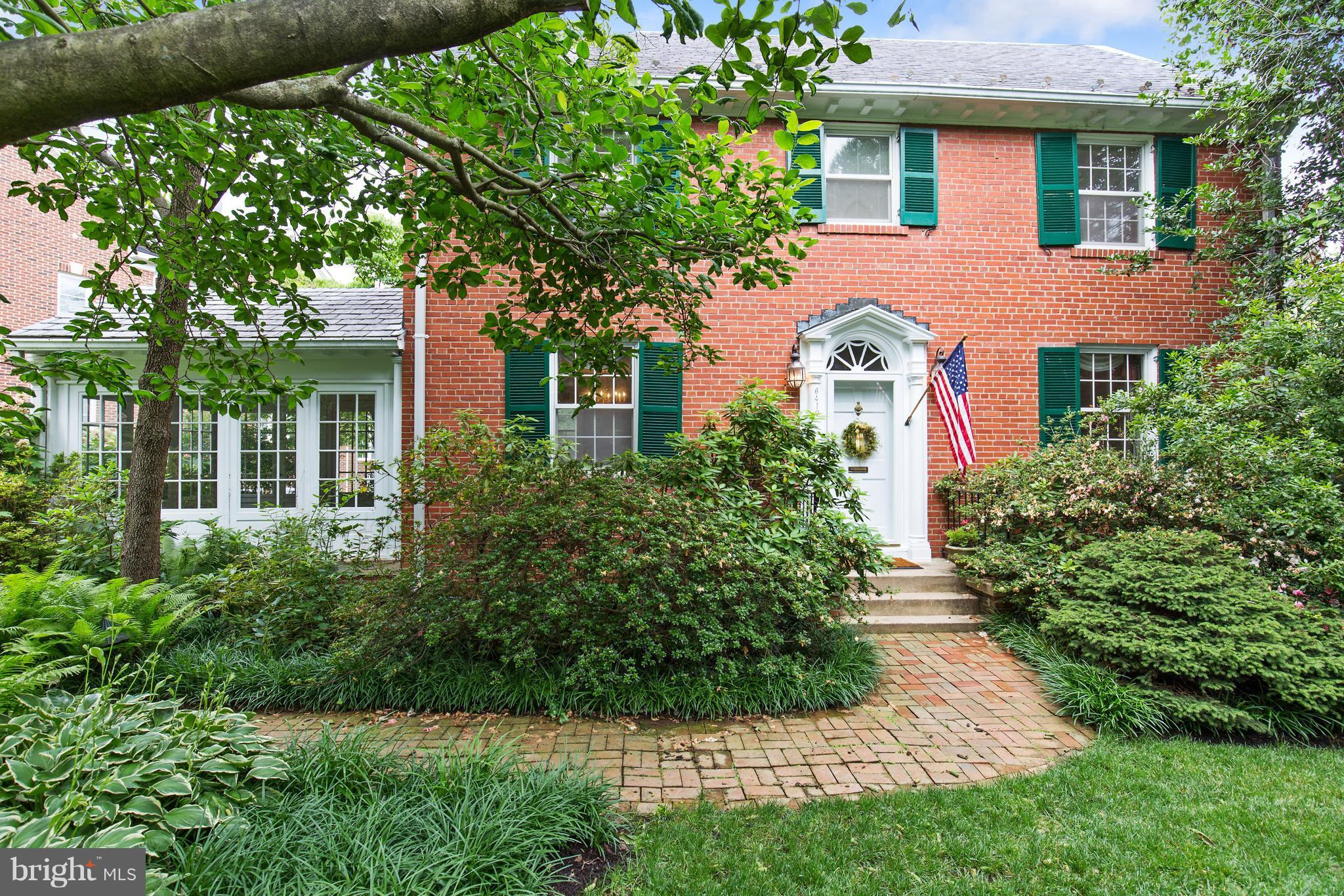 First time on public market in 82 years! Classic Colonial tastefully expanded and enhanced with seasonal Potomac River views! Features stately formal rooms combined w/ cathedral ceilings, skylights, open floor plan, all carefully designed to preserve character of original home while providing ample space for today's living. Gorgeous setting in private lush garden with seasonal Potomac River views!