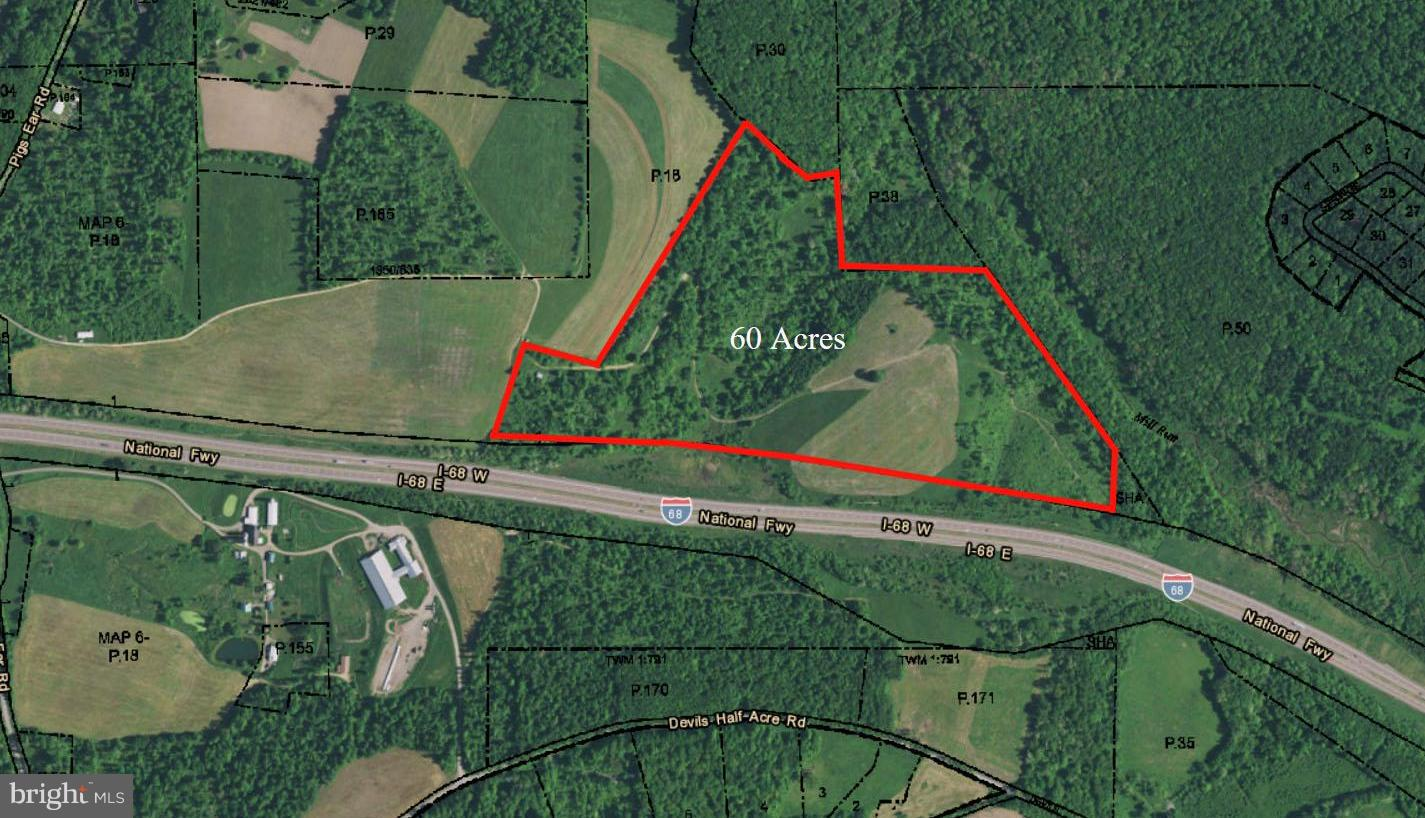 60 Acres Field Map PIGS EAR ROAD, Accident, 21520 | Railey Realty