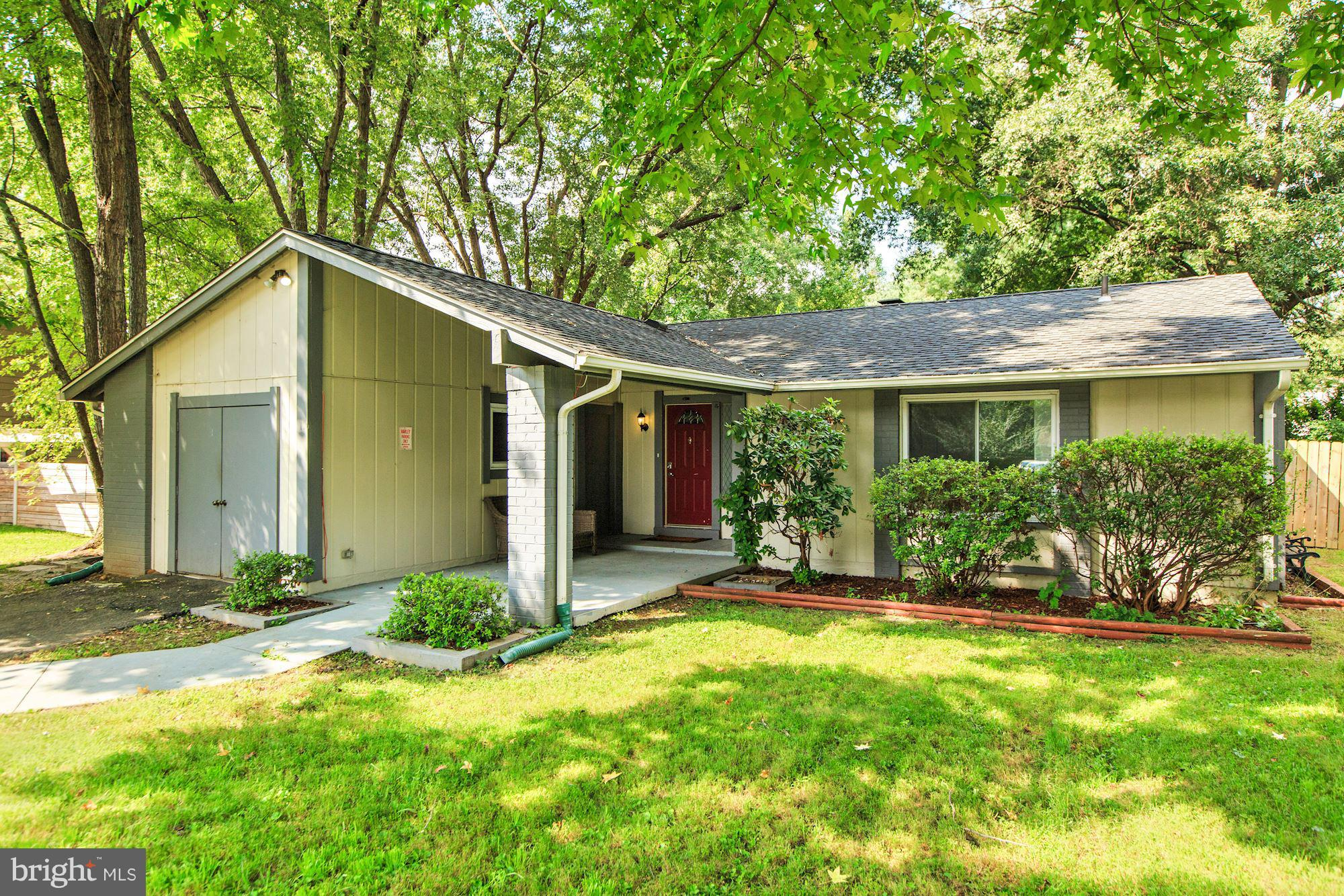 Sunfilled home in Stoneybrook w/ HW floors, picture windows, & tons of natural light. Updated KIT w/ SS appliances, charming breakfast room w/ barn door to family room. One level living w/ 3 BR 1 BTH + wonderful in-law suite w/ 1-bed &1-bath. Living room w/ vaulted ceiling & wood burning fireplace. Spacious wrap around deck & LG yard. Close to Kingstowne Towne Cntr, Parks, Telegraph Rd, Rt 1 & 495