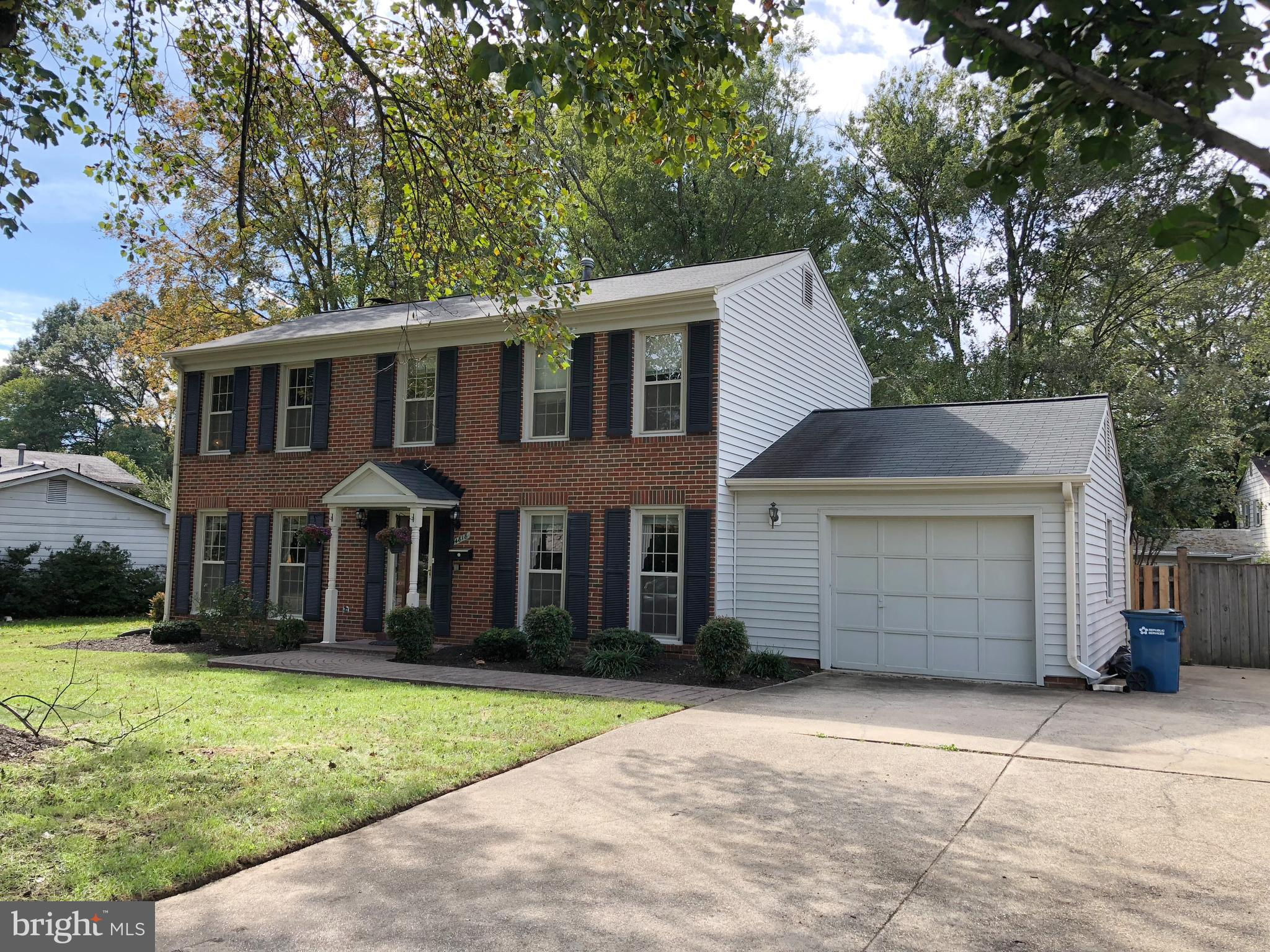 This fully furnished colonial is MOVE-IN ready! Four bedrooms and two and a half bathrooms on three finished levels.Hardwood floors on main level and upper level. Private sunroom leads to a large deck with professional landscaped backyard. Top schools, Woodson pyramid!