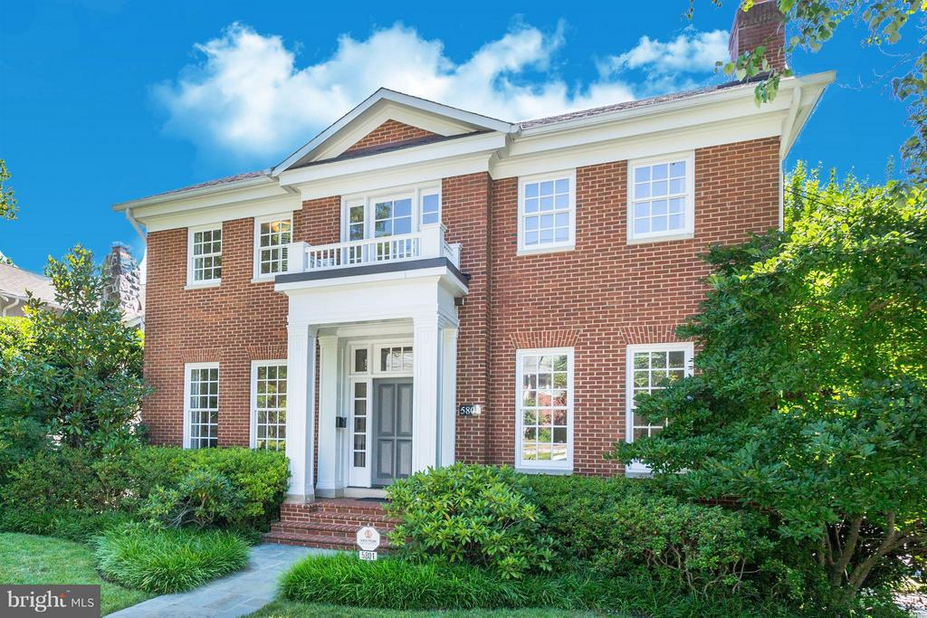 Beautiful, approx 5000sf, Georgian w/high ceilings, large windows, modern aesthetic. 1st floor LR w/FP, DR, large family room & table space chefs kitchen. 2nd flr is a spacious MBR with fireplace & en suite bath, PLUS 3 bedrooms & 2 baths up. LL has bedroom, full BA, library/office & large family room w/ terrace. Fenced garden & two-bay garage. Walk to Lafayette.