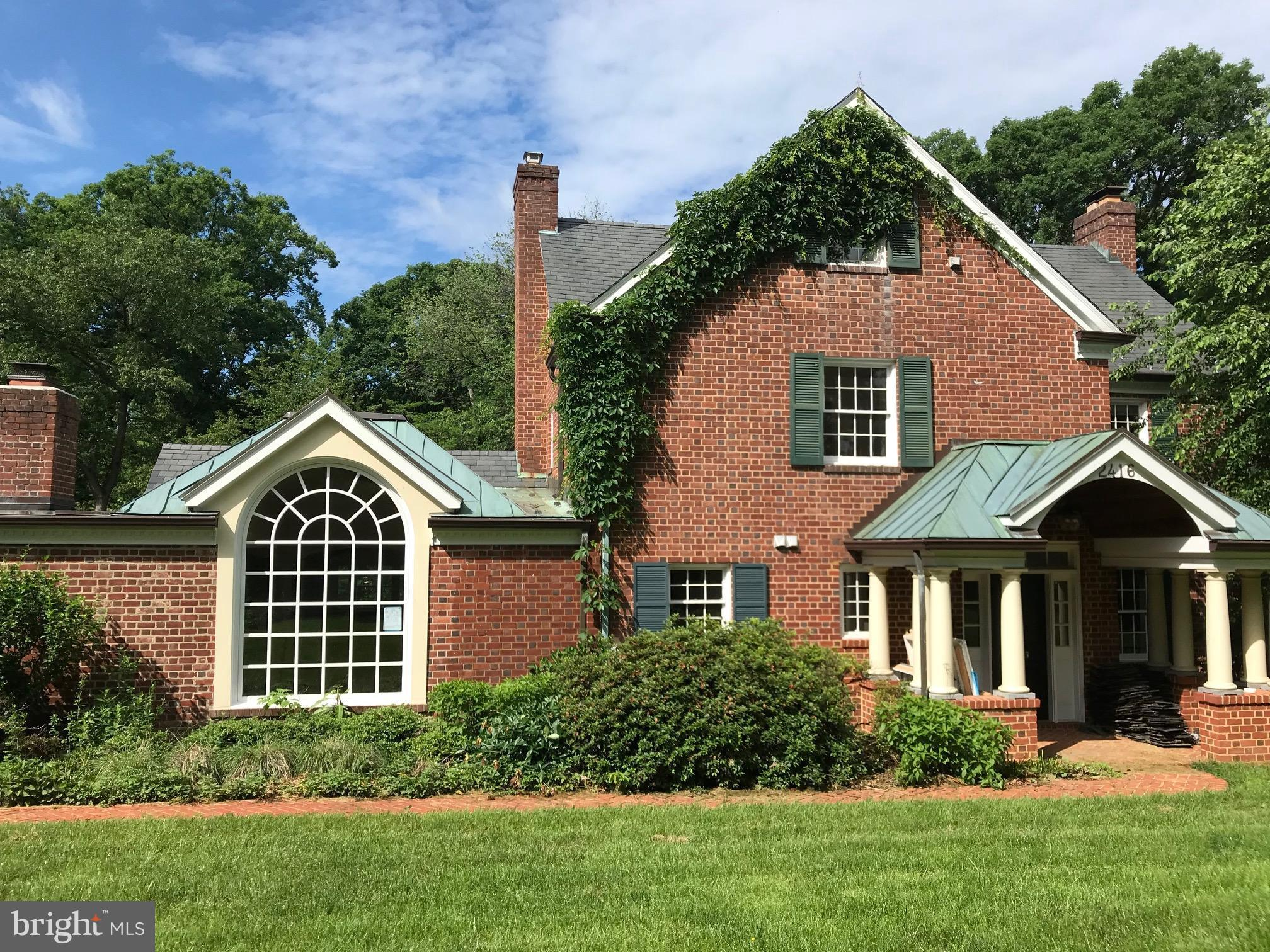 Gorgeous renovation and addition to a classic brick colonial.  With 4 finished levels, gorgeous chef's kitchen, spacious family room, spacious master bedroom with luxurious bath all sited on a large lot.  Photo is of existing house which will be renovated and expanded.
