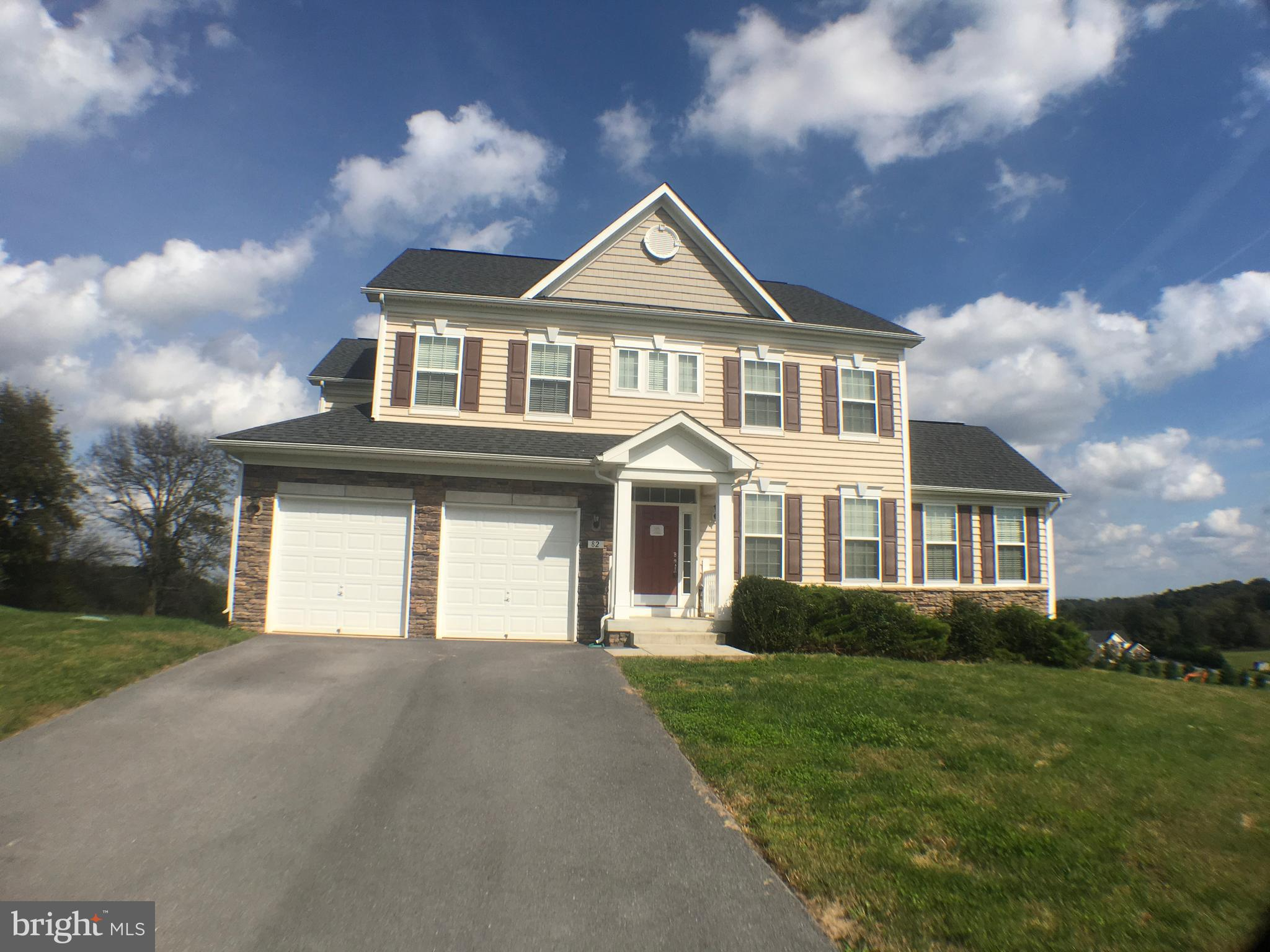 Enjoy Estate Style Living in the established Ridges of Tuscarora Neighborhood.   Gorgeous mountain views & easy commuter access to I81 & Rt 9 MD/VA Large custom built Colonial  separate living and dining rooms.  Den/Office on main level with lots of natural light, fireplace in family room, large rec room on lower level with full bath some hardwood floors, rear deck, great views & walkout basement.