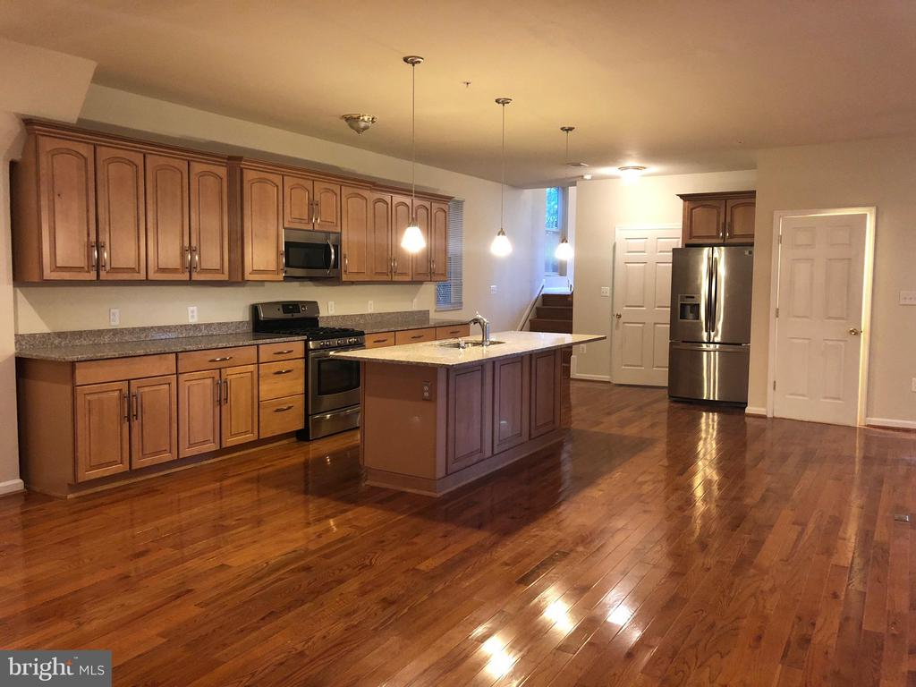 SPECTACULAR 3 LEVEL LARGE LIVING SPACE HOME FACING FLEMING PARK. 8-YEAR NEW! Minutes to 495 &270, Redline Grosvenor Metro and Montgomery mall. High ceiling foyer, Open Fl. Plan, Beautiful HWD Fls, Din, Gourmet Kitch w/Island granite countertop, FP, Stainless appliance. Master bedrm w/sitting rm, Jacuzzi, Walk-out to sm.deck. Street level fully finished basement. Security sys. High efficiency HVAC.