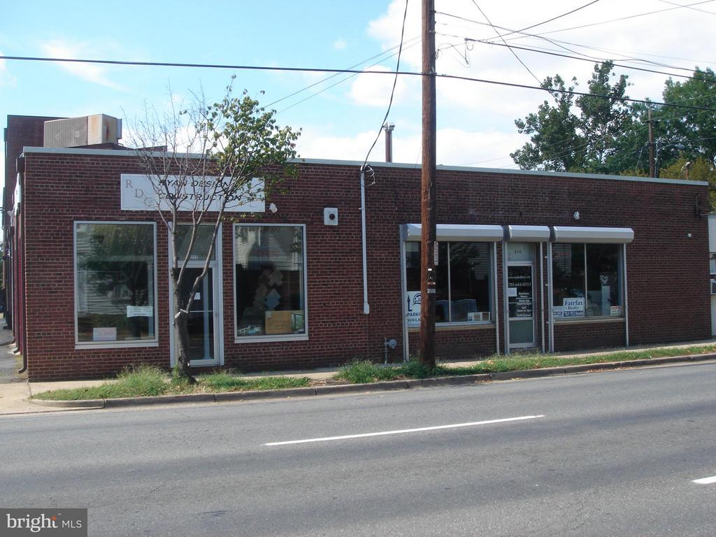 Great investment opportunity!  Building divided with two separate entrances.  Front 3600 Sq Ft currently leased.  Rear finished 2800 Sq Ft available for immediate occupancy, or rent to tenant.  Off-street parking included.  Located just two blocks from King St with high traffic visibility.