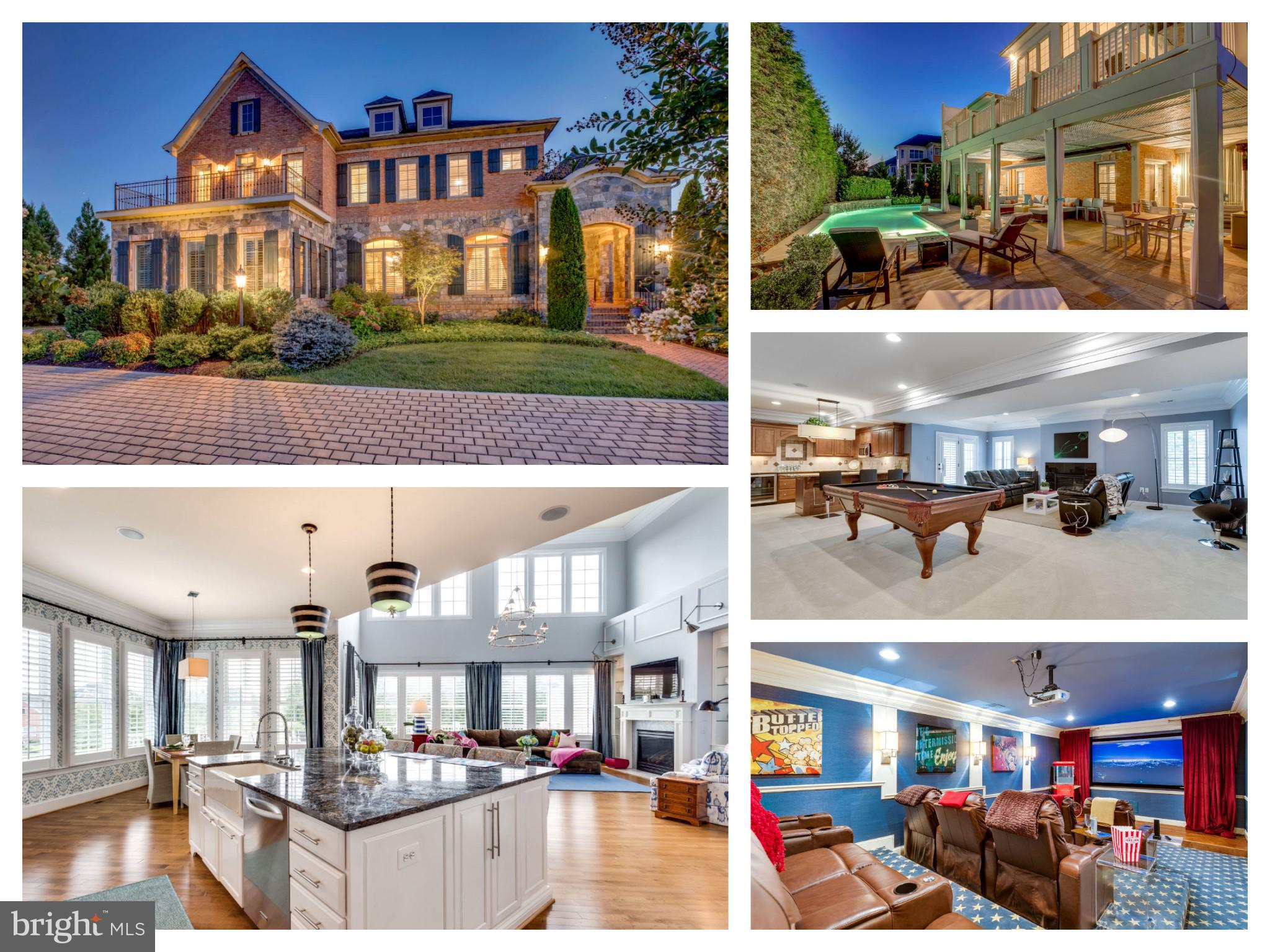 Award Winning, Luxury Community- Just 3 mile to Tysons/Mclean/Reston! Like NEW 5 BDR | 6.5 BA | 3-Car Garage | Salt  Water Pool on Premium Lot. Over 150K of Recent Updates! Custom High-End Finishes - Gourmet Kitchen opens to 2 Story FR, 2 Masters (MAIN & UL), Sun-filled LL w/ 2nd kitchen/bar, Custom Theater, huge rec room, & gym. Walk-out to private outdoor living. OPEN BY APPOINTMENT