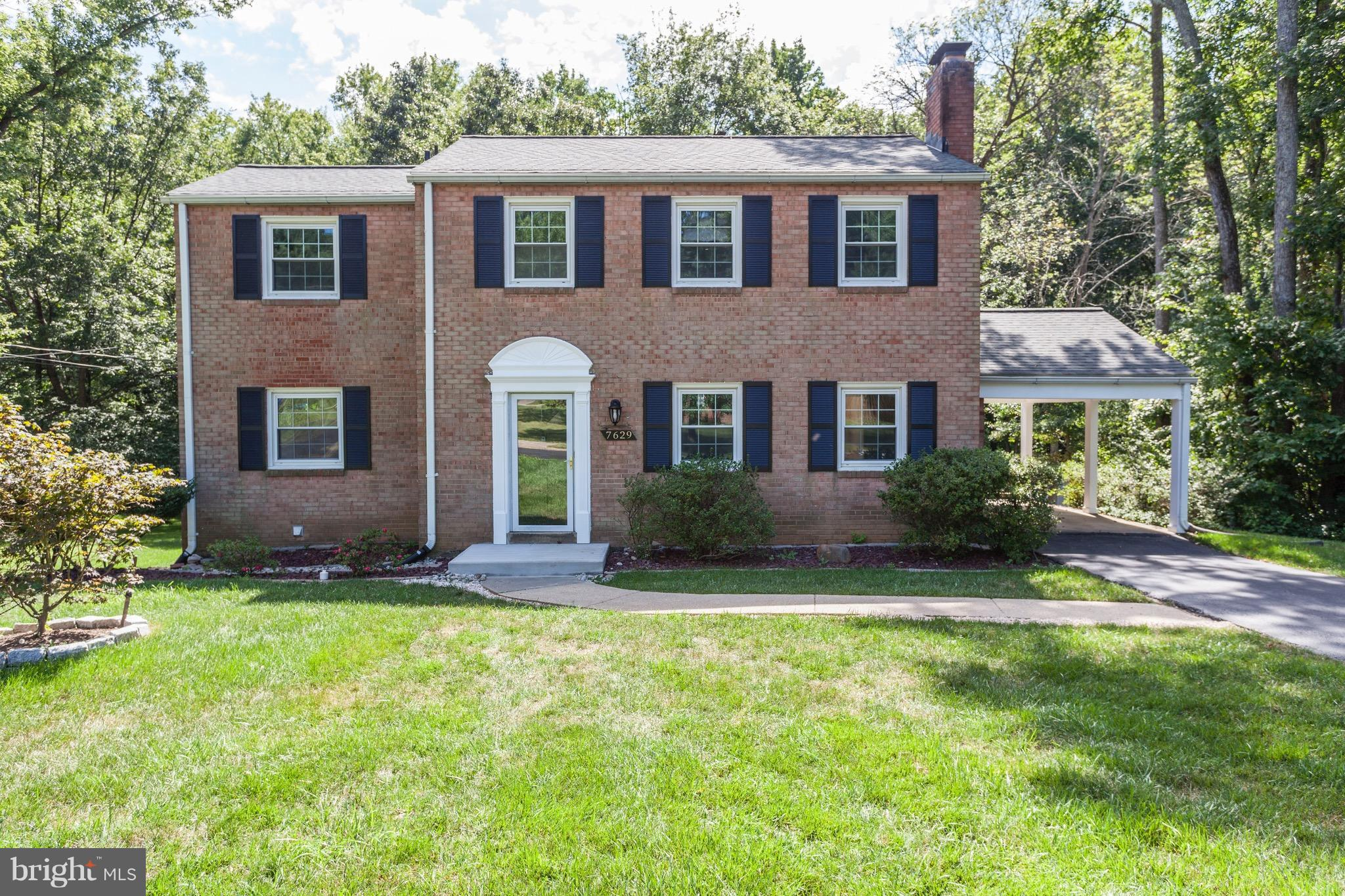 Stunning ALL brick 4BR, 2full and 2BA home in Springfield! Amazing lot surrounded by trees & backs to parkland w/ walking trails to Lake Accotink. Updated baths & unique opened main level. Beautiful granite in KIT. Main lvl & BRs w/ HW floors. Walkout lvl rec rm w/ FP & recessed light.  Mins to 395, 495 & 95. Must see!