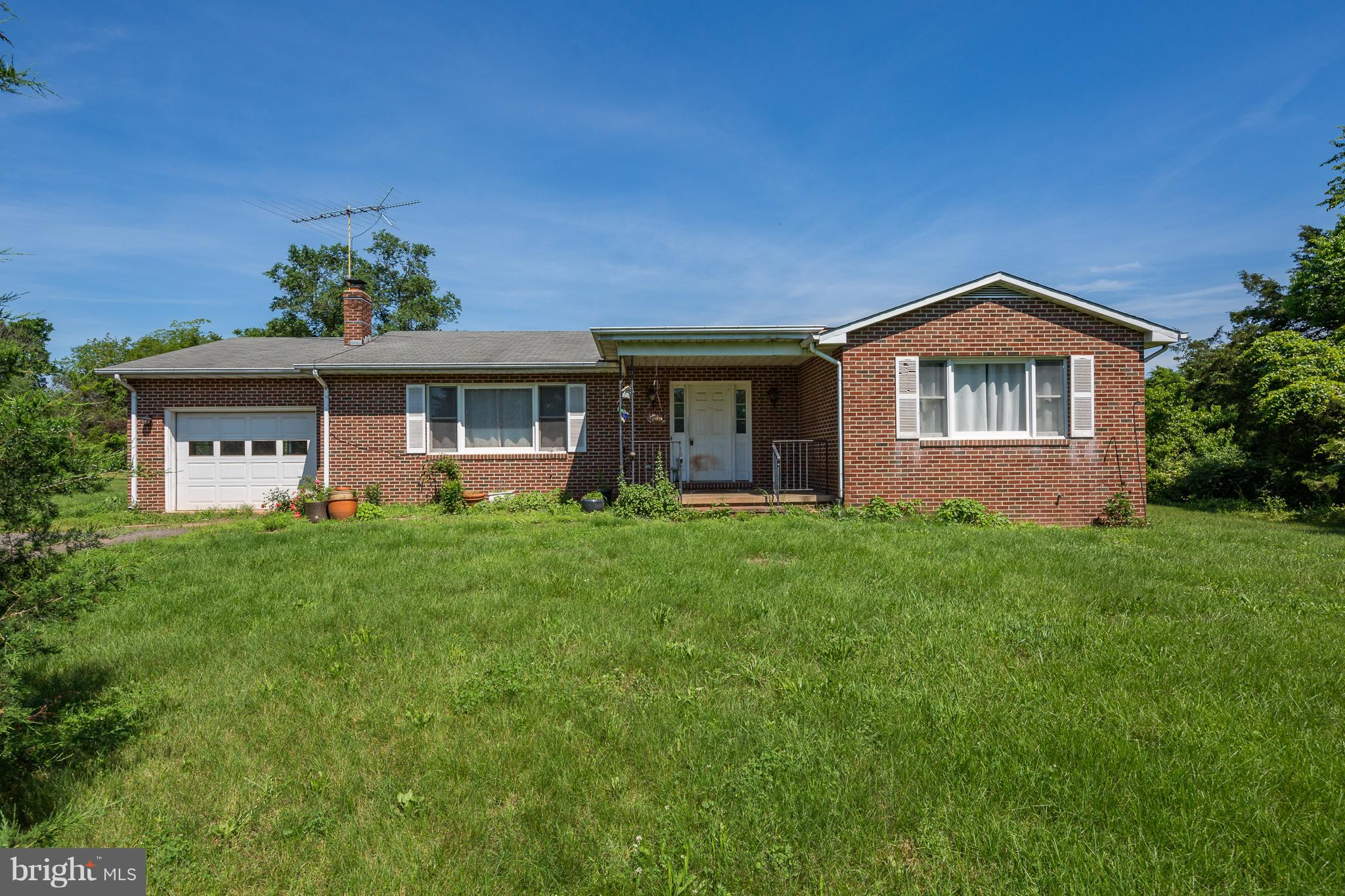 SOLID BRICK RAMBLER 3 BEDROOM 2 BATH FULL UNFINISHED BASEMENT..PROPERTY NEEDS WORK-REMODEL HOME OFFERED AS-IS.- NO HOA OR COVENANTS.