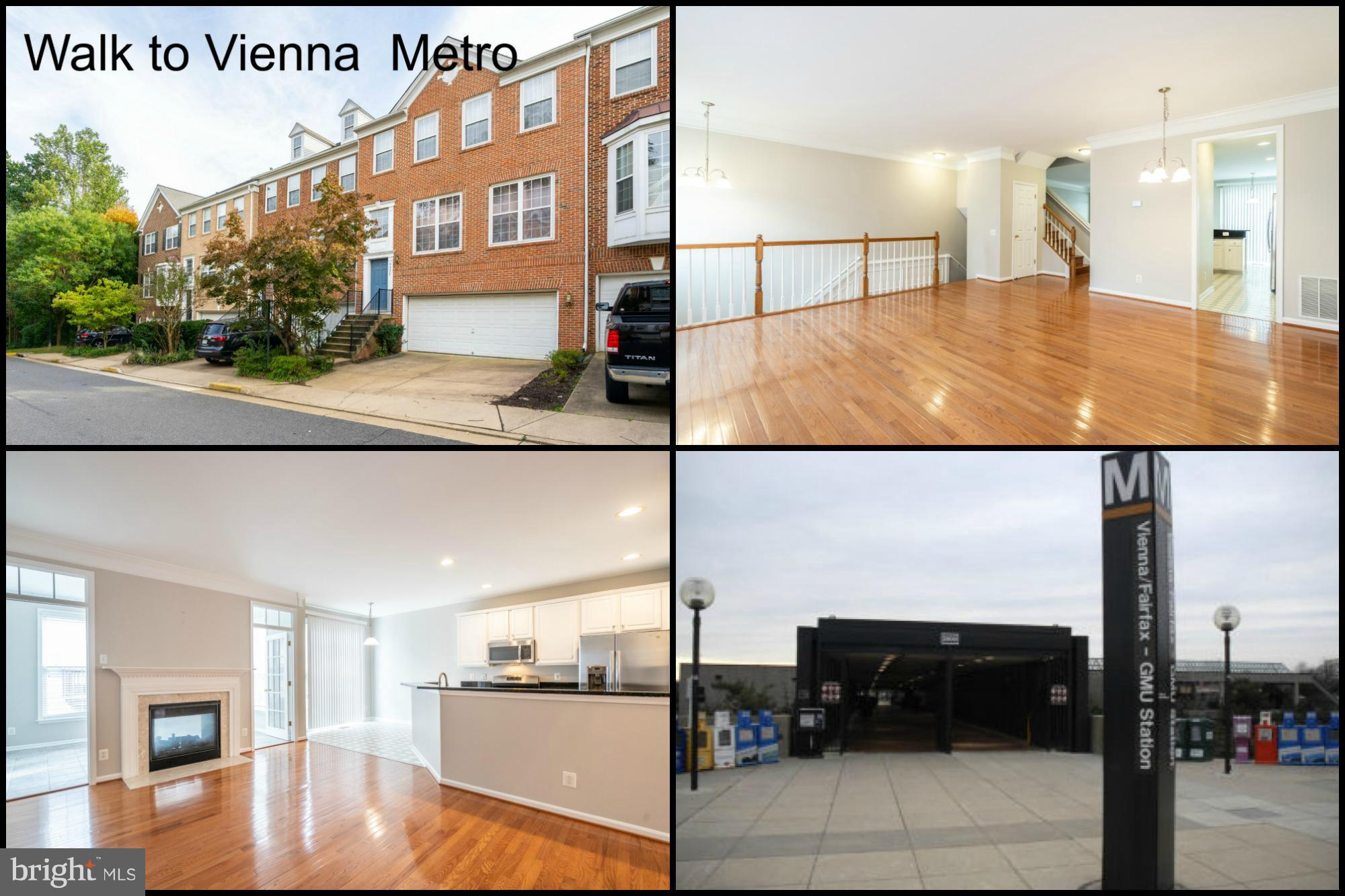 Large 2-car garage TH walking distance to Vienna Metro. Hardwood floors, neutral decor, gas fireplace, freshly painted,sunroom, large walk-in closet in MBR. Great commuter location, large open floorpan with ample storage. NO PETS.