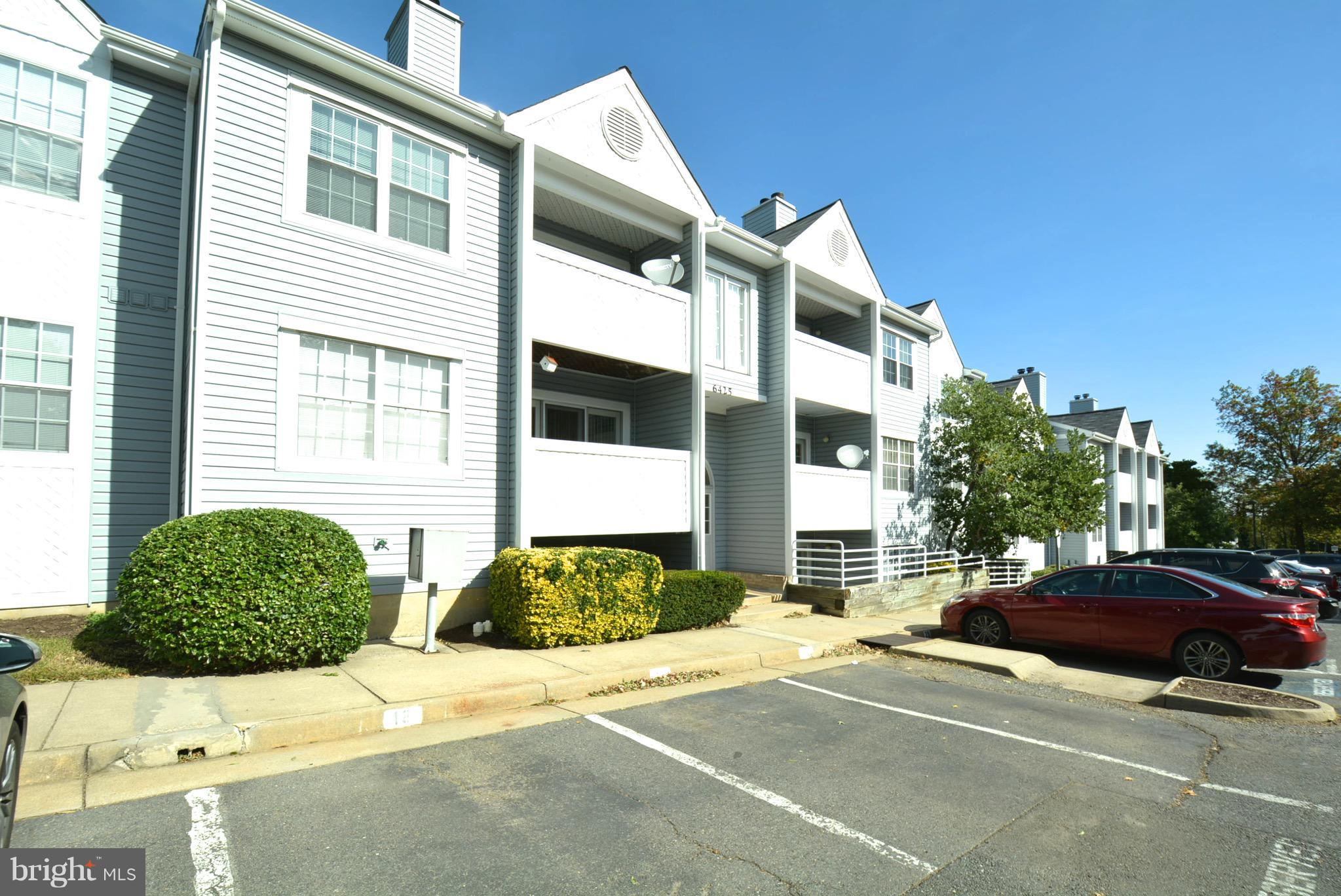 Rare Top Floor!! Ideal property w/FP, balcony, dining room table area, ceiling fans, laundry room in unit w/cabinets, master walkin closet/sep bath & xtra large storage unit in LL.  Assigned 1 car pkg space #8 and extra pkg tag w/ample visitors spots.  Walk to restaurants, shopping, approx 1 mile to metro. Electric $100/month and water in condo fee. VA loan assume @3.25% OH SAT NOV 3rd 12-1PM