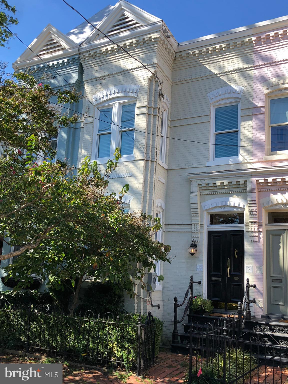 """One of the """"Four Painted Ladies"""" in the heart of Old Town just 2 blks off King St. and a few blks to the waterfront. Updated kitchen, beautiful wood floors, high ceilings, exterior brick patio and separate outside access to finished lower level. Seller is SIRVA Relocation LLC. call before writing.subject to RELO docs. Great opportunity!"""