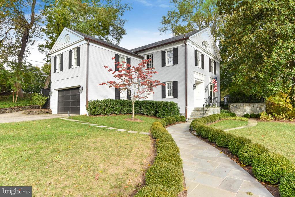 Elegantly renovated pre-war Colonial on large, private corner lot in the heart of Kent. 5 bedrooms. 4.5 baths, gourmet kitchen, with formal and informal dining spaces.  Gorgeous landscaped gardens surround the house with large front lawn and secured back yard with pool, gazebo, koi pond, fountain, and entertaining space perfect for both a large group of friends or a private family gathering.
