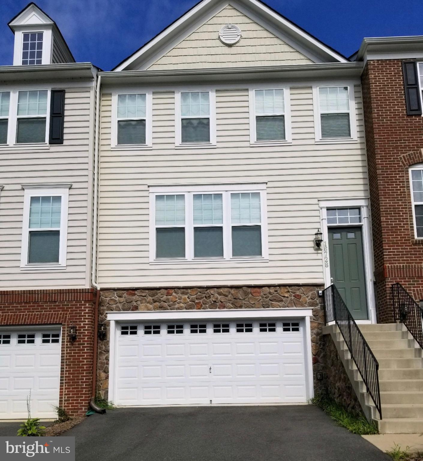 Gorgeous Townhouse in the desirable Powell's Landing community with tons of upgrades!. 3 Bedrooms, 3 Full & 1 Half Baths, Huge Kitchen with kitchen Island, Granite Counter-Tops, 2 Car Garage and much more. Close to Quantico and Fort Belvoir. Walking trail to Leesylvania State Park. Seller willing to consider lease-purchases.
