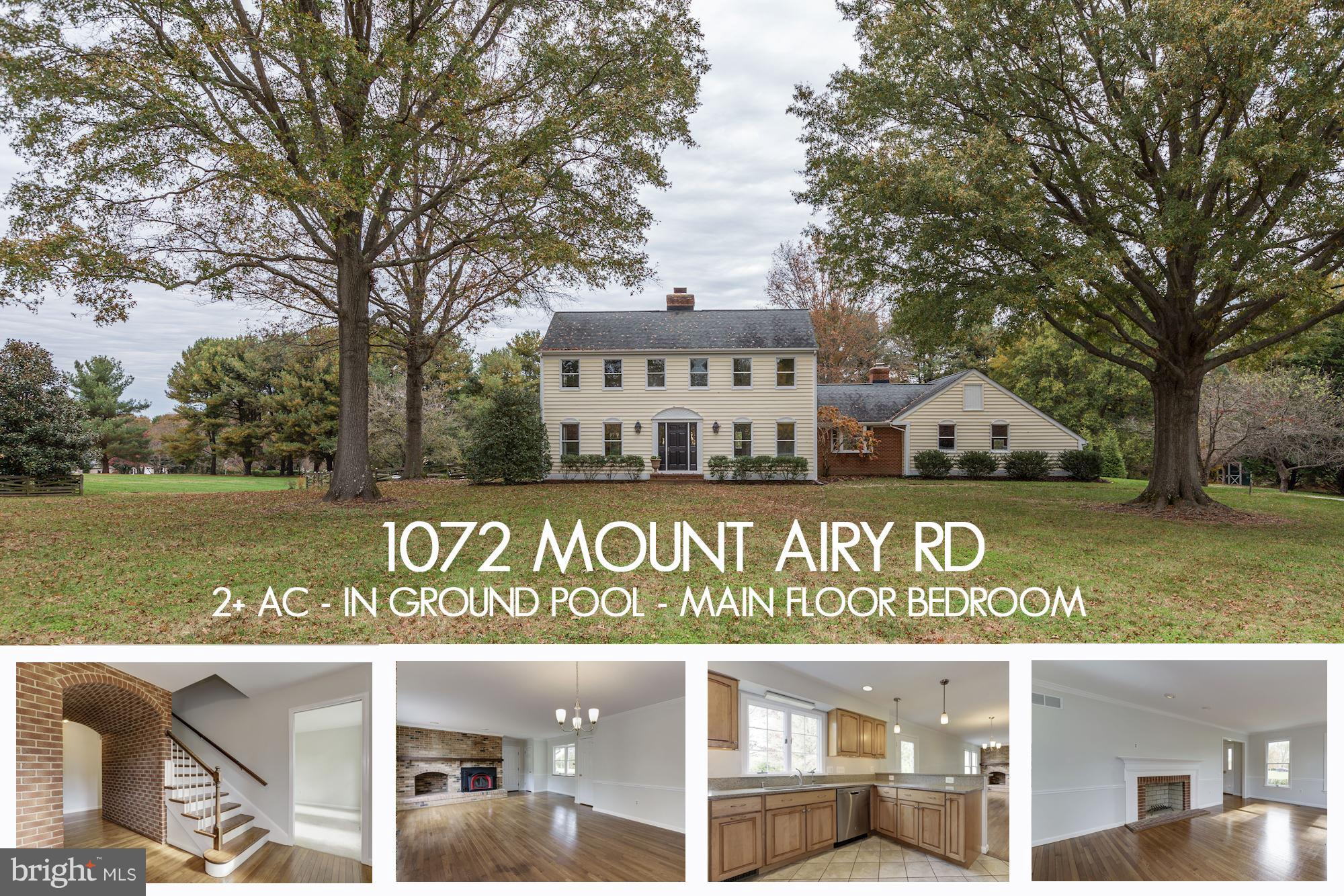 1072 MOUNT AIRY ROAD, DAVIDSONVILLE, MD 21035
