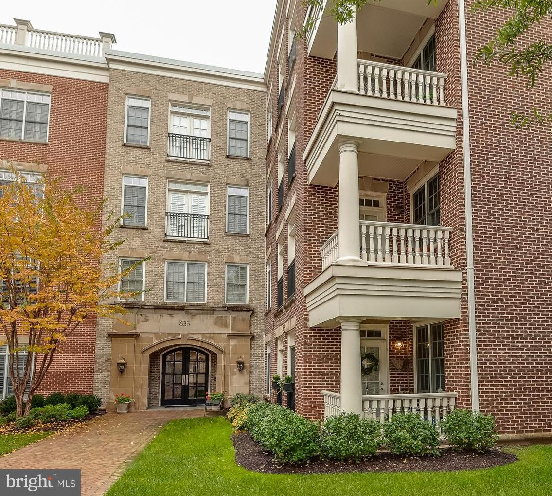 Don't miss this meticulously maintained 2/2/1 condo in sought after Liberty Row. This bright condo boasts Southern & Eastern exposures, an open floor plan, hardwood floors, crown molding, custom built-ins, a private deck,  a washer and dryer and so much more.  The Gourmet kitchen features stainless steel appliances, granite counter tops, lots of cabinet storage, a walk-in pantry, and an island overlooking a beautiful formal dining room with fireplace.   The  spacious Family Room allows you to relax which also features a marble front fireplace, built-in shelves and plenty of wall space.  The Master Bedroom has a large walk-in closet and a spa-like master bath with dual sinks, soaking tub and separate shower.   The Second master-suite has two closets and a private bath. This unit comes with two assigned, secure parking spaces. Close to Historic Old Town Alexandria, shopping, restaurants, the water front, DC, The Reagan National Airport ~ a must see today!