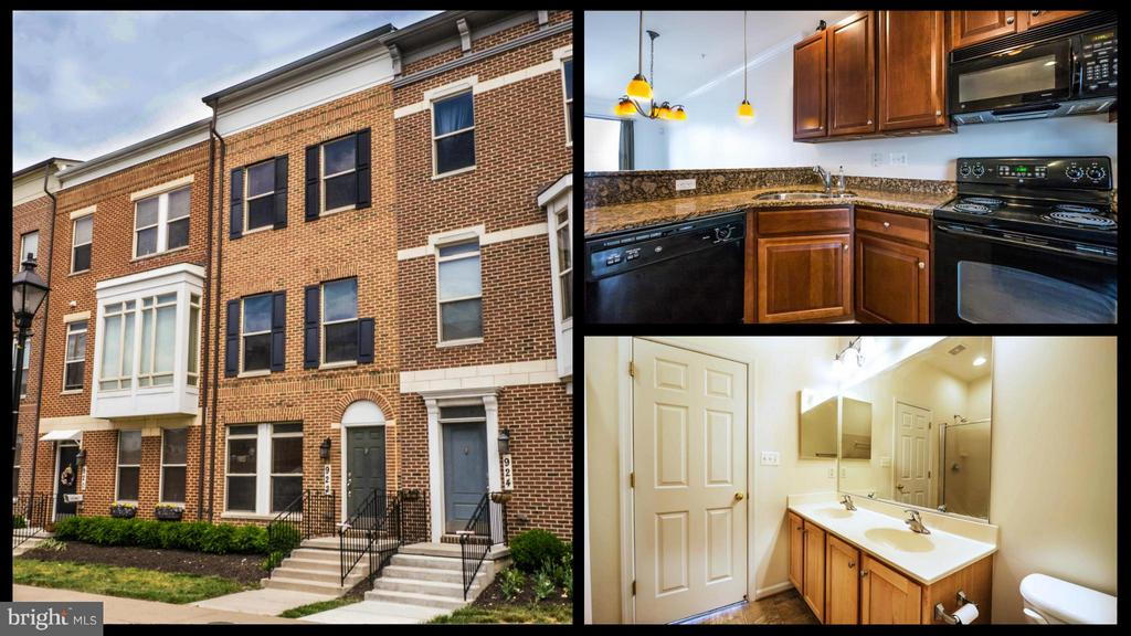Fantastic 2 BR 2.5 BA Townhome for rent located steps away from Harbor East. Granite countertops, vaulted and cathedral ceilings, 1 car garage with additional parking pad for 1 car in rear, 2 decks overviewing city sky line, brick front and walk in closet.  Great Location next to all Baltimore's best attractions, night life, shopping and dining spots.