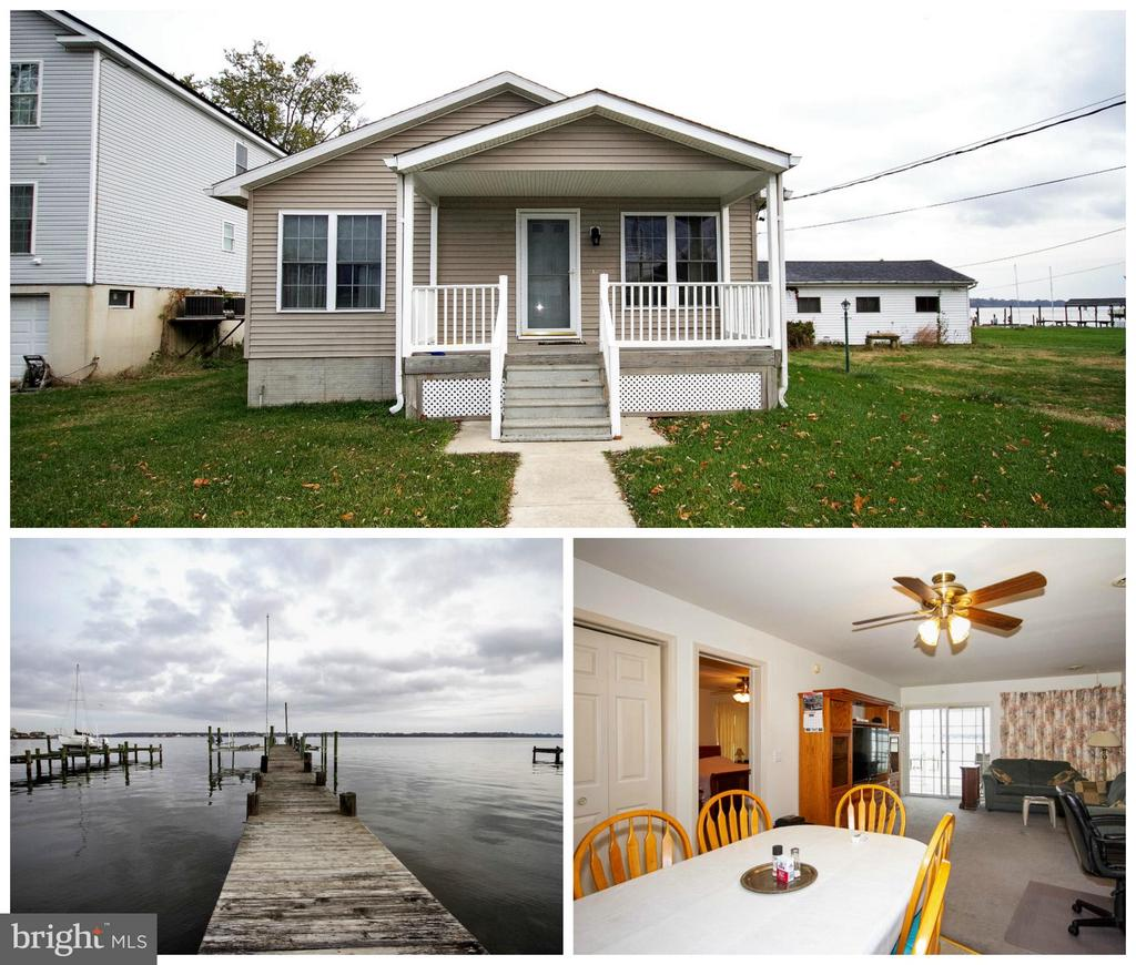 BEST WATERFRONT DEAL ON THE MARKET!  Lovely Waterfront Rancher with a Pier and Boat Lift Built in 2004!   3 Spacious Bedrooms and an Open Floor Plan with Gorgeous Waterfront Views!  Spacious Kitchen with lots of cabinet and counter top space! Huge Parking Pad and Car Port! This is a Must See!