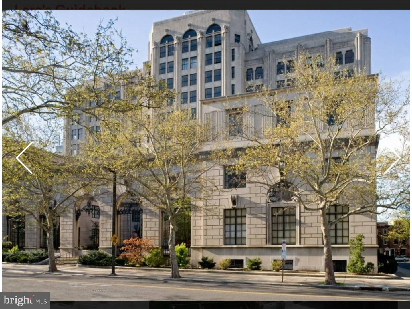 LIMITED TIME SPECIAL: RECEIVE ONE MONTH'S FREE RENT ON A 13 MONTH LEASE AND RECEIVE A $1000 MOVE IN CREDIT!!  PERFECTION AND VALUE is what you will find in this 2 BEDROOM, 2 BATH residence located at THE SCHOOL ADMINISTRATION BUILDING. This fantastic layout with all open LIVING and DINING area boasts UNOBSTRUCTED views of the Philadelphia ART MUSEUM and the PARKWAY. Kitchen features BREAKFAST BAR with all granite counter tops, and stainless steel appliances. Each bedroom is SUPER spacious and includes EXTRA LARGE closets. 2100 PARKWAY, constructed in the 1920's, was the original home of THE SCHOOL BOARD OF PHILADELPHIA. The grandeur of THIS ART DECO STYLE BUILDING, with one of the most elegant entryways in PHILADELPHIA, offers old world elegance with 2019 features. GYM in building, 24/7 door person, and just minutes from Whole foods, Trader Joe's, Target, I 76, and Kelly Drive. GARAGE PARKING available for an additional fee. Photo's are of model unit.