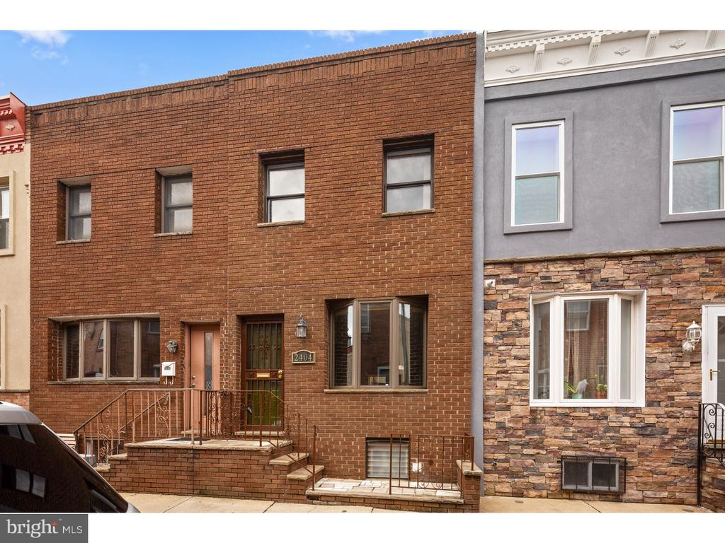 South Philly Value at its Best! This house has a really nice spacious feeling to it!  Walk into the the open living room/dining room.  Goes right into the kitchen.  The kitchen has been redone and the original and unique tile flooring is still in place!  There is a very cute back patio area, would be great for a small table and barbecue or fire pit.  Go downstairs to the semi finished basement.  The basement features laundry, lots of storage and a tile floor.  There is a fully enclosed half bath in the basement as well.   Upstairs there is a very nice redone bathroom, a large front bedroom and smaller second and third bedrooms.  This one is priced right and ready to go for the fall market!