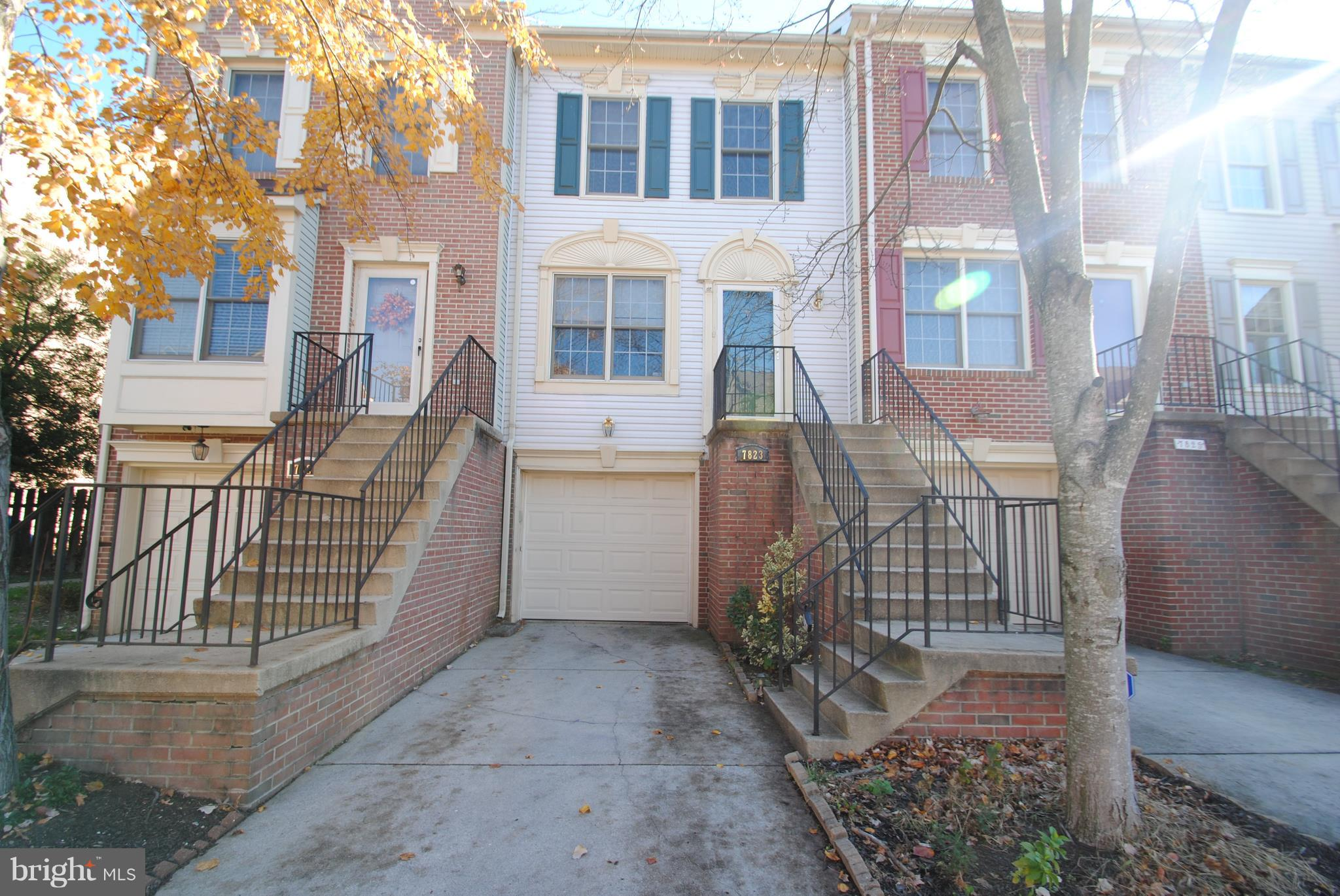 3 bedroom 2 full and 2 half bath townhome.  One car attached garage.  Hardwood Floors.   Eat in Ktichen with Granite and Custom Backsplash.  SS appliances.  Deck off kitchen.  Fully finished basement with full daylight and walk out to fenced backyard.   Basement rec room with fireplace.  Reduced rent for 24 or 36 month lease.