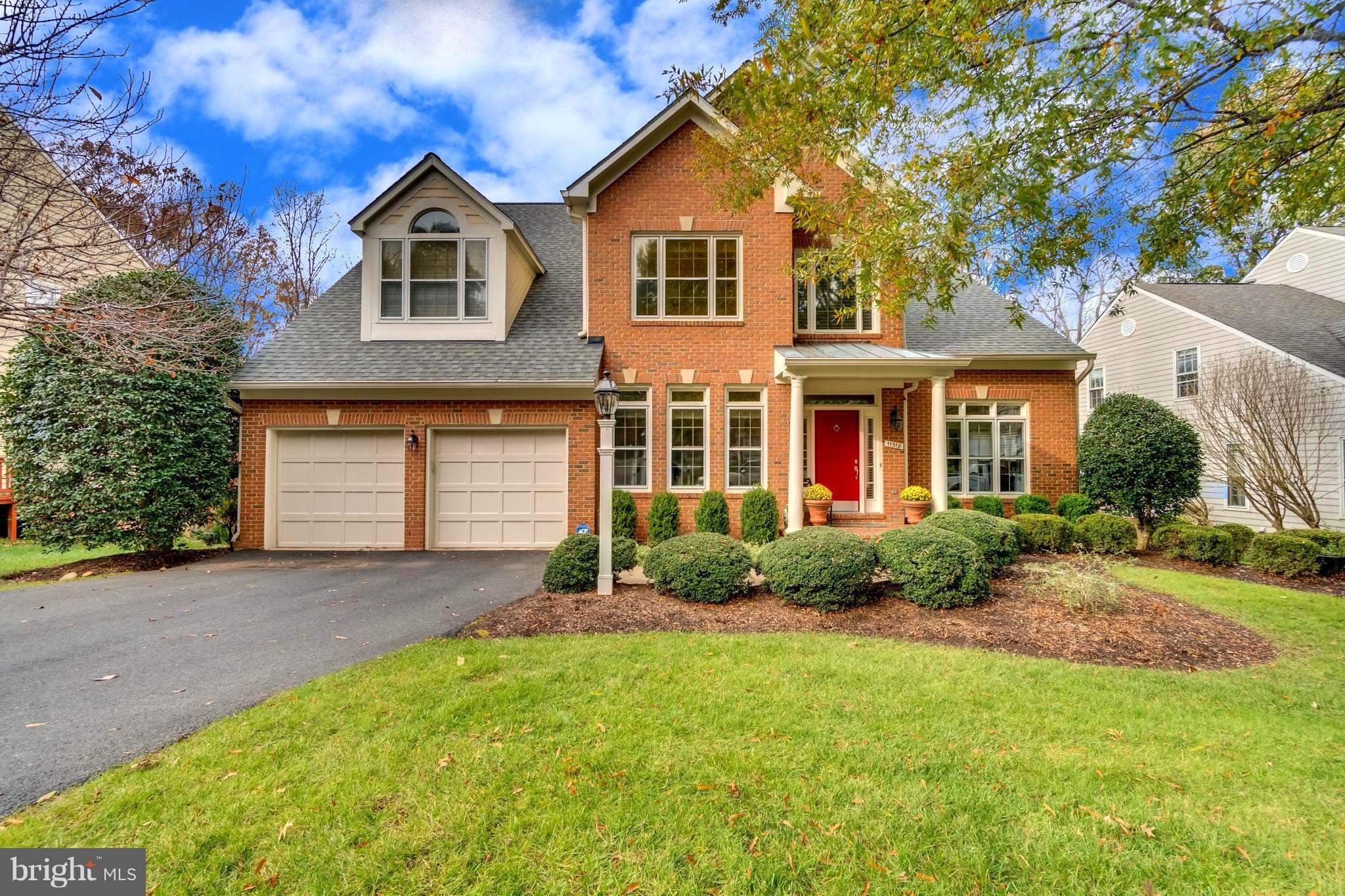 OPEN SUN,1-4pm-Beautiful North Reston Brick-Front,Center Hall Colonial Backing to Parkland.Recent Remodeling to Include Full Kitchen W Upgraded Chef Appliances and Dramatic Master Bath W/ Heated Porcelain Floors.  2-Story Foyer-Main Level  Library w/ French Doors , Extensive Trim Work to Include ,Crown, Chair Rail and Shadow Boxing  Throughout .Sunken Living Room W/Bay Windows Supplying Plenty of Natural Light . Home Overlooks Woods and Walking Trail . New Roof 2015, New HVAC 2012,New Garage Doors and Openers 2014.