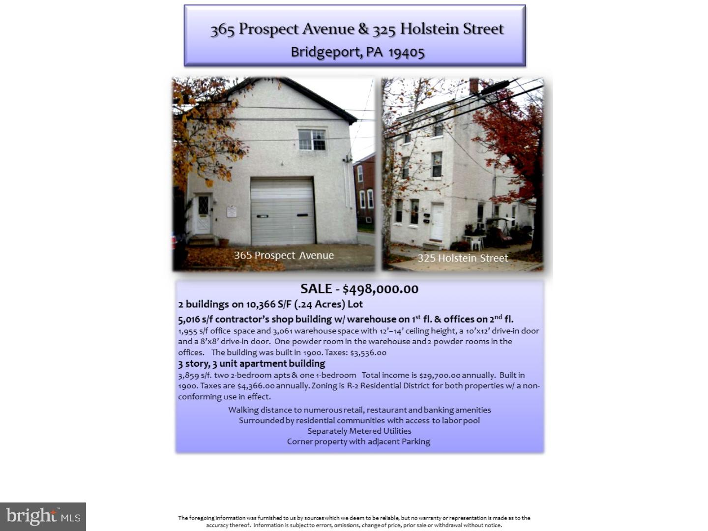 365 PROSPECT AVENUE, BRIDGEPORT, PA 19405