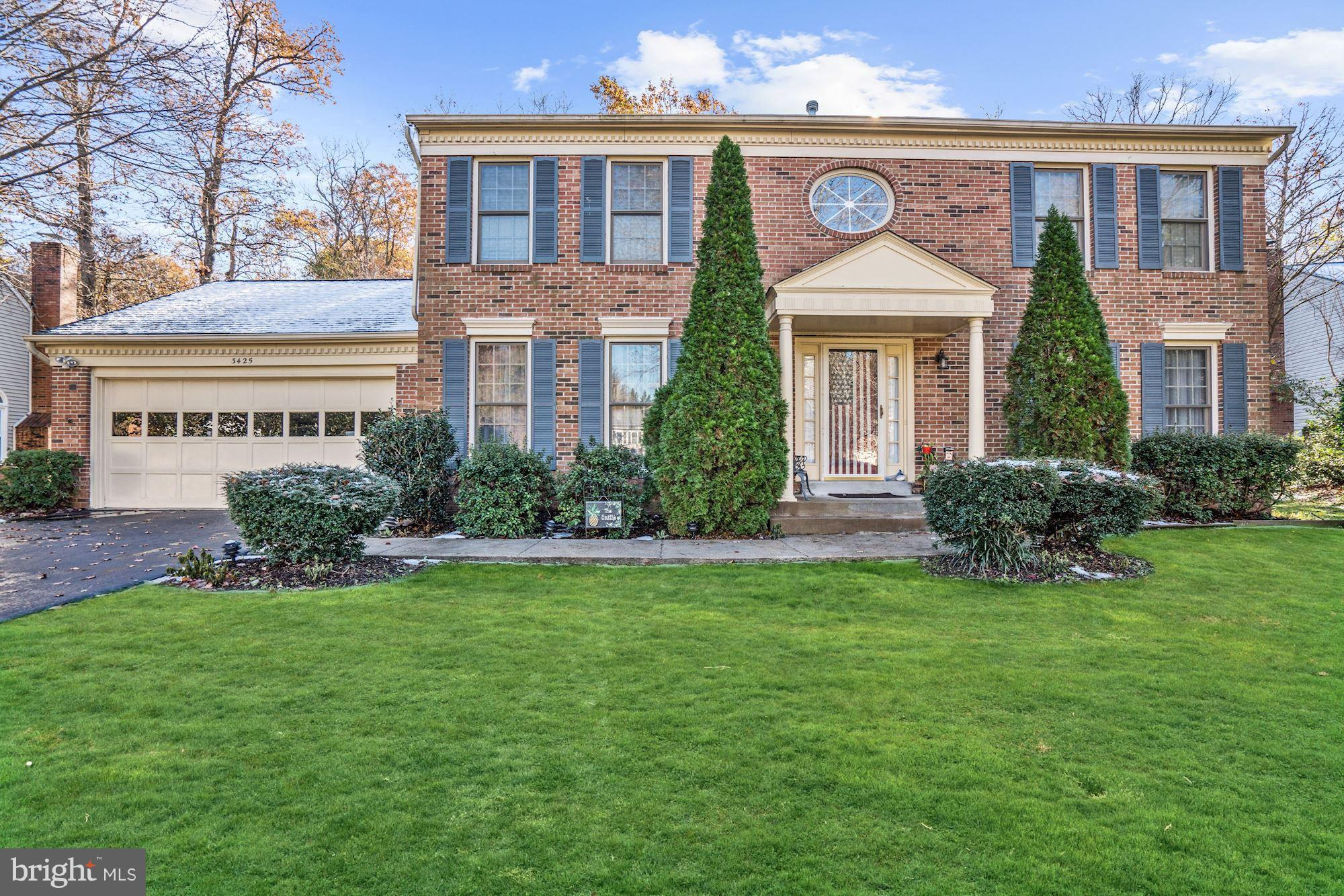 This beautiful and spacious colonial has been beautifully maintained.  Aesthetic landscaping adds to the curb appeal, and attractive details await inside. Enter the main level and appreciate the gleaming hardwood floors, a bright living room to the right, and to the left a spacious dining room perfect for large gatherings and entertaining. The kitchen features sparkling granite countertops and eat-in kitchen space. Sunlight bathes the room from the skylight and beautiful bay window that provides a beautiful view to the large backyard and wooden deck. Upstairs includes a huge master suite and 3 additional bedrooms.  The partially finished walkup basement is all ready for a full bath and includes a built-in safe. This home is sure to wow you with its gorgeous details - come see!