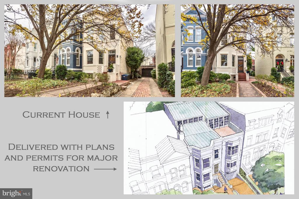 RARE OPPORTUNITY to create a grand 4,600 square foot residence with garage parking in the shadow of the US Capitol and steps to the DNC,  RNC, House Office Buildings, and and metro.  Architectural plans available with various floor plan options. All approvals secured, and final permit in process (conveys with sale). The existing 4 bedroom townhome, sited on an extraordinary 30 wide lot, features a side driveway and separate garage. Purchase the existing property with plans and permits in place, or work with the seller to customize and build your dream home. Your chance to live and entertain at the nexus of power and prestige awaits! More info at 432njave(.)com