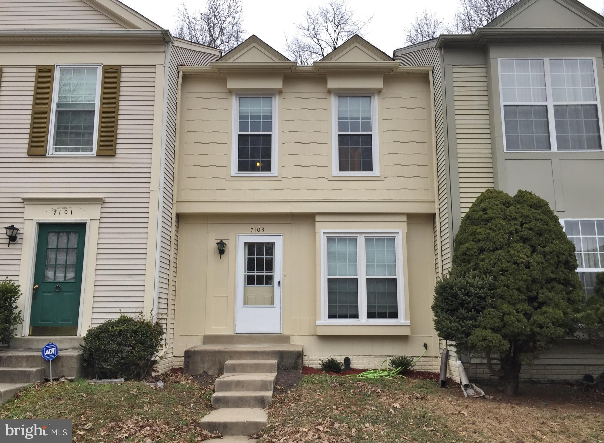 Sellers has remodeled this 3 lvl TH.  Everything is ready for you to move your furniture in!!  Painting has just been completed. Kitchen was completely redone only a year ago.  HVAC is 1 year old.  Windows are 2 years old.  You will love our private fenced in backyard that has a view of trees. We are a heart beat away from Fort Belvoir, Huntington Metro and National Harbor.