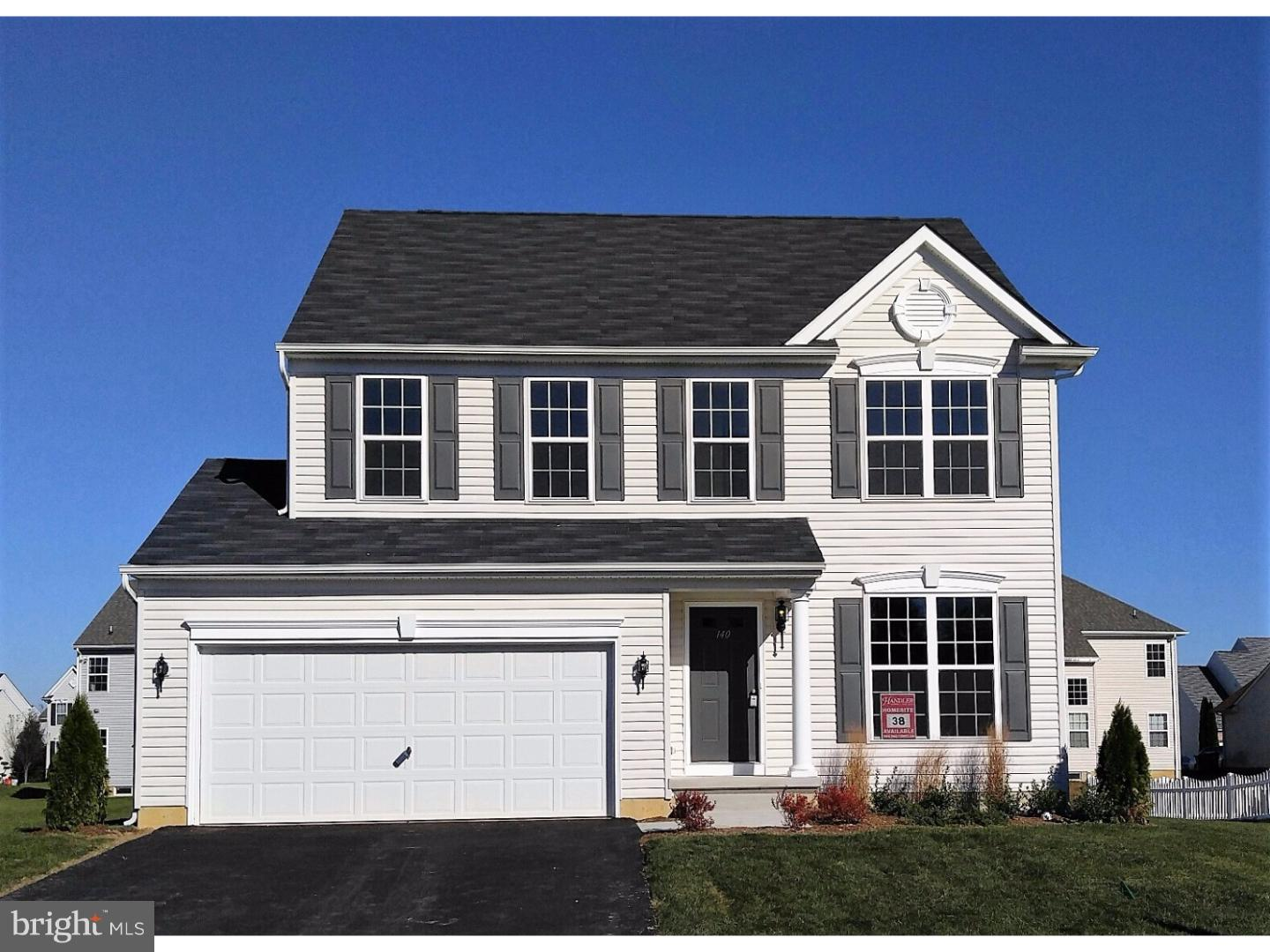 JUST REDUCED! The Fallston II 4 bedroom 2.5 bath home has it all and will be ready to move in this spring. This colonial style home is designed with today's lifestyles in mind. Enter into a warm and inviting foyer leading to the heart of the home. The kitchen opens to a breakfast area as part of the open first floor plan which allows you to be a part of what's going on in the house no matter what room you are in. There is a spacious sunroom adjoining the kitchen. A cozy fireplace is the focal point of the family room. The very generous owners' bedroom has a spacious walk in closet and ensuite bath that includes a tub and stand up shower. Big bedrooms and linen closets for storage add convenience and space. Rough-in plumbing for a future powder room in the basement is thoughtfully added for convenience. The architectural shingles, carriage style garage doors and 9 foot first floor ceilings add value to your home as well as elegance. All this and more in the accredited Appoquinimink school district. Call for more information! Pictures may be of a model home with upgraded features, or a similar home.