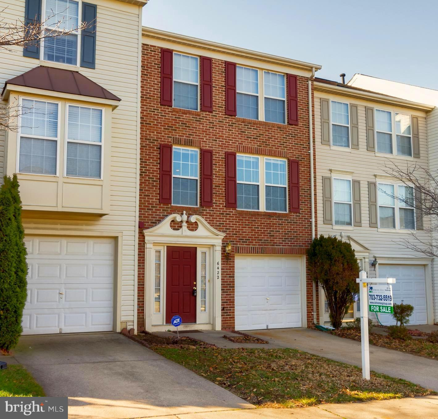 LOCATION, LOCATION!! Easy access to I-495, I-395, I-95, and HOA provided Rush hour shuttle to Franconia Metro Station! Welcome to this FRESHLY painted, spacious and sun-filled, three-level, brick-front, one-car garage with driveway townhome in the Japonica community. Recent upgrades such as newer  (less than 3 years old) HVAC, A/C unit and Water heater. Gleaming hardwood floors through out stairs, main and upper levels including bedrooms. Recess lighting in living and dining area. Spacious, sun-filled kitchen, with kitchen island and room for breakfast table, french doors leading to deck (in process of being painted) for enjoyment and entertainment. Ceramic tile in kitchen, bathrooms, foyer and throughout lower level. Half-vaulted ceiling in master bedroom, and walk-in closet. Cozy fireplace, family room and fenced in patio in lower level.  Close to Franconia Metro Station and easy access to  I-495, I-395, I-95. Minutes away from Kingstowne and Springfield Town Center for shopping, dining and entertainment! Community amenities include: pool and club house. Enjoy Park, tot lots, tennis courts, and trails all within walking distance.