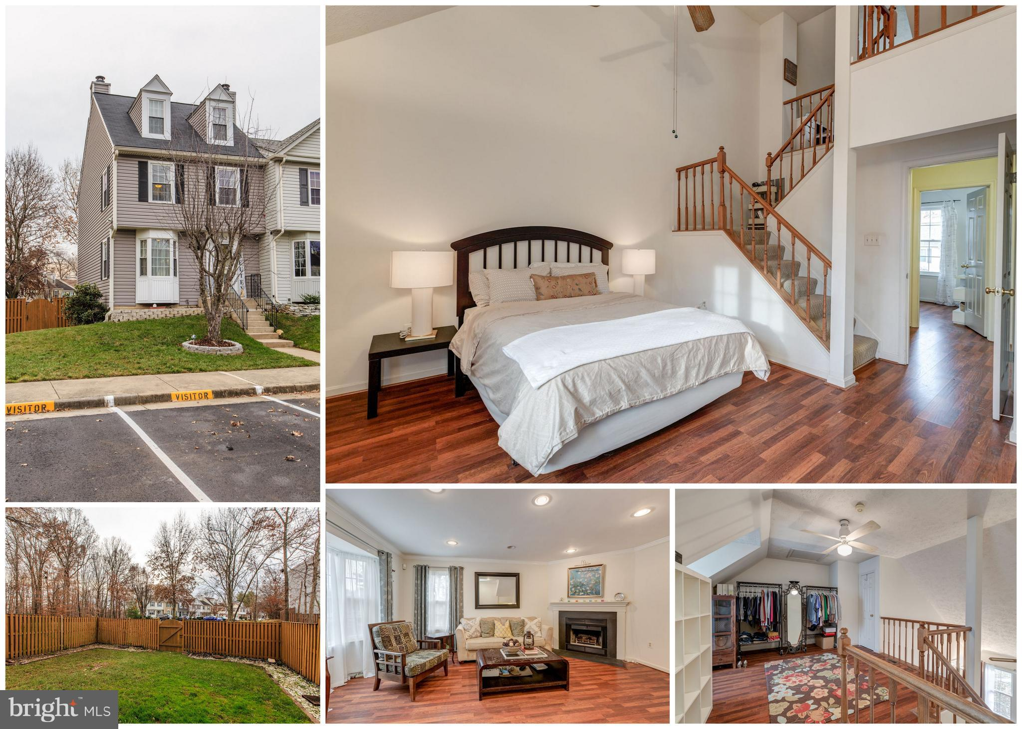 OFFERS DUE TUES 12/18 @ 6pm. You'll love this updated END UNIT townhome on a corner lot in Washington Square.  This Amherst LOFT model is the largest and most rare in the neighborhood.  Recent updates include a new roof, new windows and sliding glass door, all new siding,  newer HVAC,  brand new washer and dryer,  and more! Put your finishing touches on this home that already has the big ticket items taken care of.  Finished basement with tons of storage.  Master BR with en-suite bath and walk-in-closet. The versatile extra loft space is great for an office, mega-closet, den, nursery, game room,  or 4th bedroom.  It's an amazing location perfect for commuters. Take the paved path to VRE and Lorton Station shops & restaurants - only a 3-5 minute walk!  Close to I-95, Ft. Belvoir,  RT-1, Wegman's &  more shopping.   Tons of storage!  Finished walk-out basement leads to the patio and large fenced rear and side yard.  Washington Square has tennis courts and playgrounds while conveniently near parks, dining, shopping, and commuter routes.