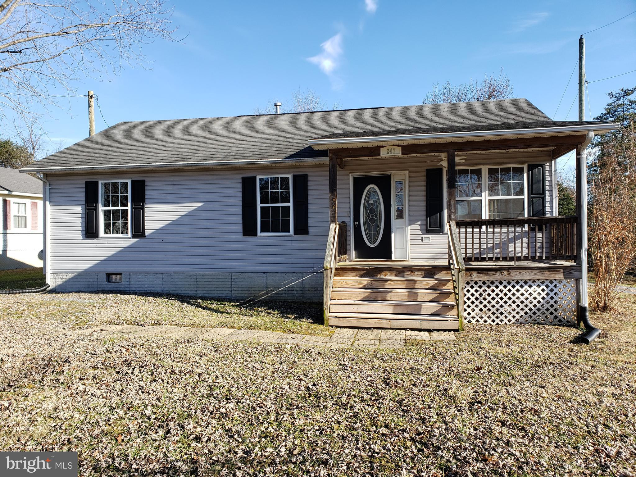 Ranch style home features 3BR, 2 full baths  with a large, 2-car, detached garage in Winchester, VA.