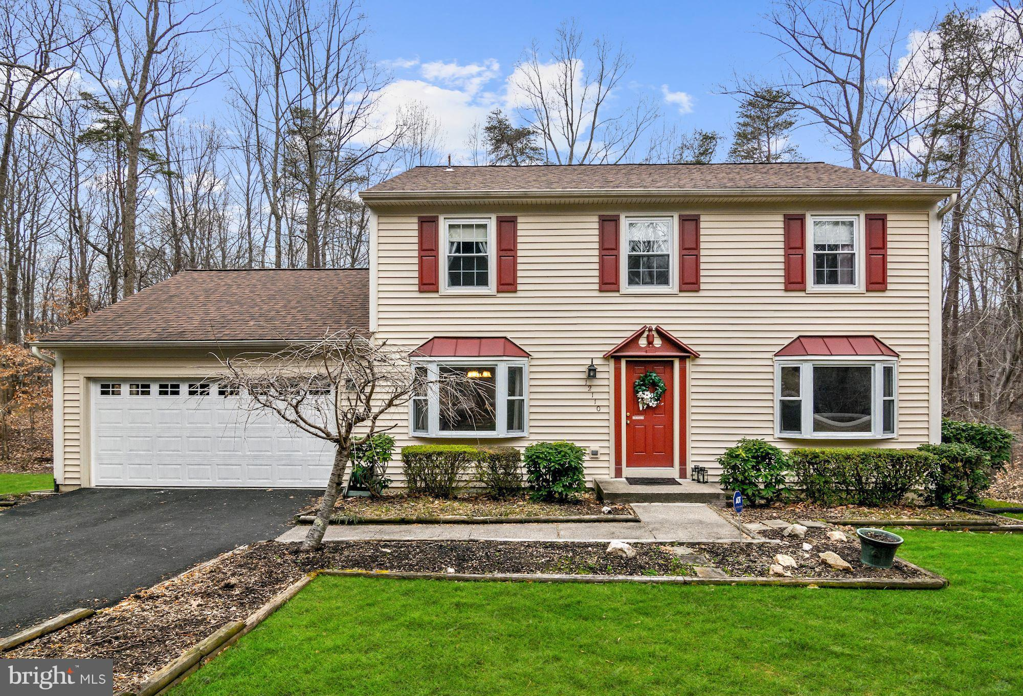 Absolutely gorgeous colonial on private wooded 1.77 acre lot. Totally updated! New gleaming wood floors  &  recent paint & carpet* Eat-in kitch. w/granite countertops & new flooring.  Fabulous FR with gas FP & patio door to deck . Remodeled baths w/designer tile & upscale vanities.  MBR w/walk-in closet. Main level Laundry. Walk-out basement w/ Rec RM, loads of storage plus room for expansion.  New driveway &  oversized garage with new  door. Updated roof, siding,  gutters & windows.Enjoy the tranquil country setting yet just a few minutes to all the amenities.NO HOA. One year warranty.
