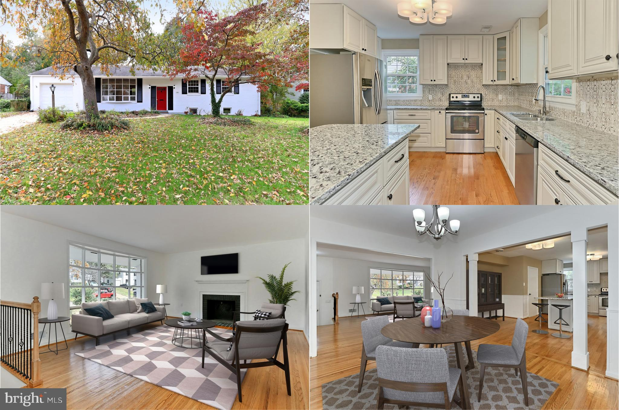 Beautiful, completely renovated 4 BR, 3 BA home with loads up upgrades! Refinished hardwds, new iron railing, lighting, more! Living rm w/bay window & wood burning FP opens to formal dining rm. Remodeled eat in kitchen w/new cabinets, granite, backsplash & SS appls leads to lovely yard & garden. Renovated baths! MBR w/full BA. Finished walk up LL has huge family rm w/FP, full bath, den + bonus rm!
