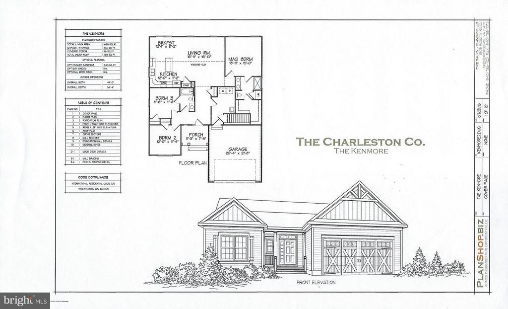 SPLIT BEDROOM PLAN IN A GREAT RAMBLER DESIGN -  FULL UNFINISHED BASEMENT.   VAULTED CEILINGS, GAS HEAT AND COOKING, GRANITE, SS APPLIANCES, CRAFTSMAN DESIGN IN A SMALL NEW COMMUNITY W/NATURAL GAS, PUBLIC UTILITIES, SIDEWALKS AND IN THE CITY OF FREDERICKSBURG