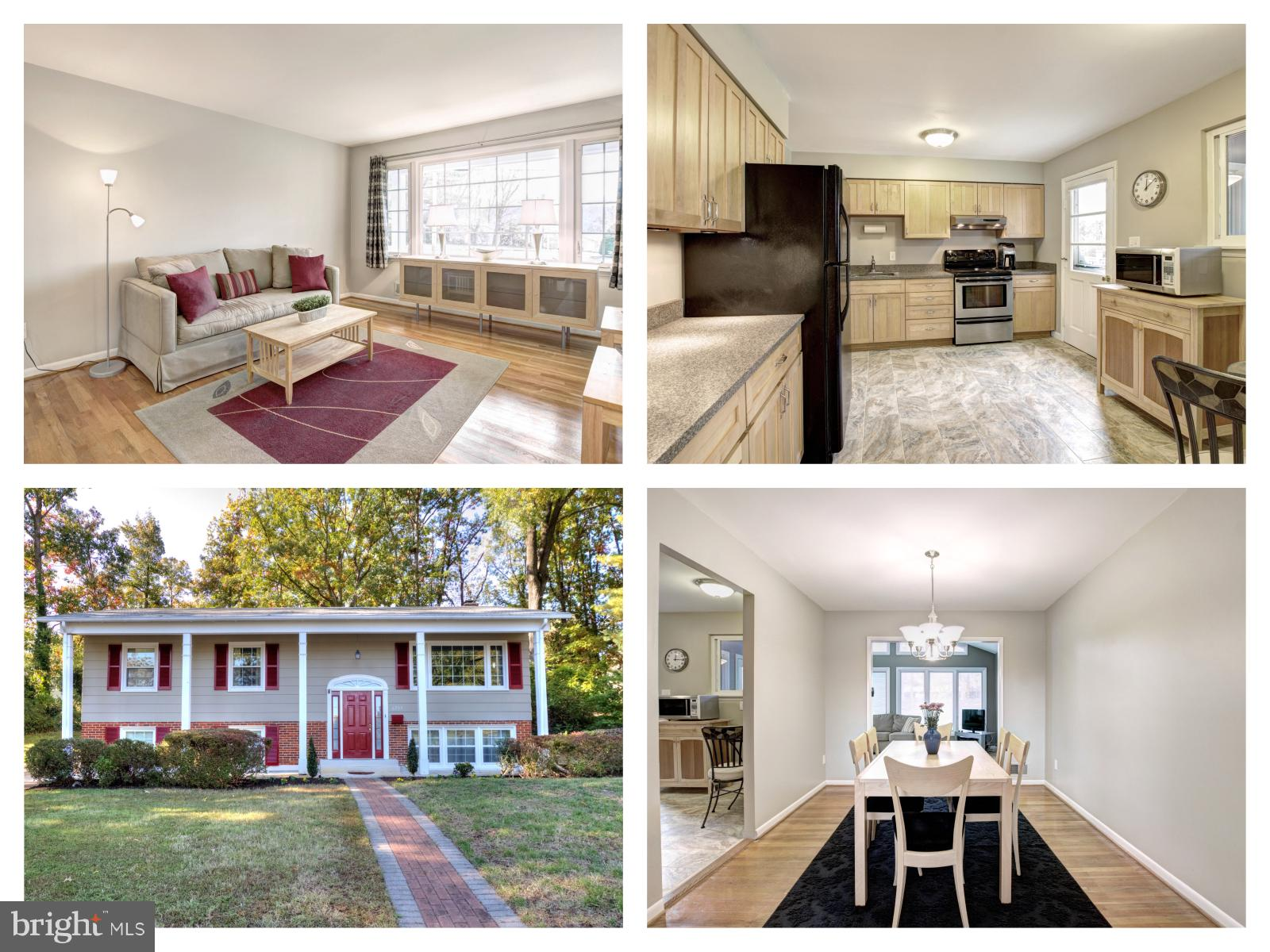 Spotless 5 bed 3 bath split foyer in the established Rose Hill neighborhood.  Beautiful hardwoods throughout main floor and a smartly designed kitchen.  Bright sun room addition with vaulted ceilings. Gorgeous curb appeal and serene backyard enjoyed from Trex deck. Brand new furnace.  Spacious LL family room with wood burning fireplace.  Additional bed and bath on lower level make the perfect in-law suite.  Minutes from I495 and commuter routes, this home is a smart choice!
