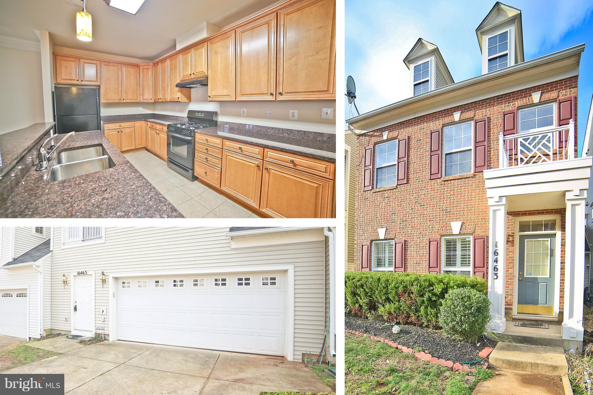Beautiful open concept  3-level colonial town home.  Two main entrances with plenty of space.  Second level loft area could be your perfect office or family entertaining area location.