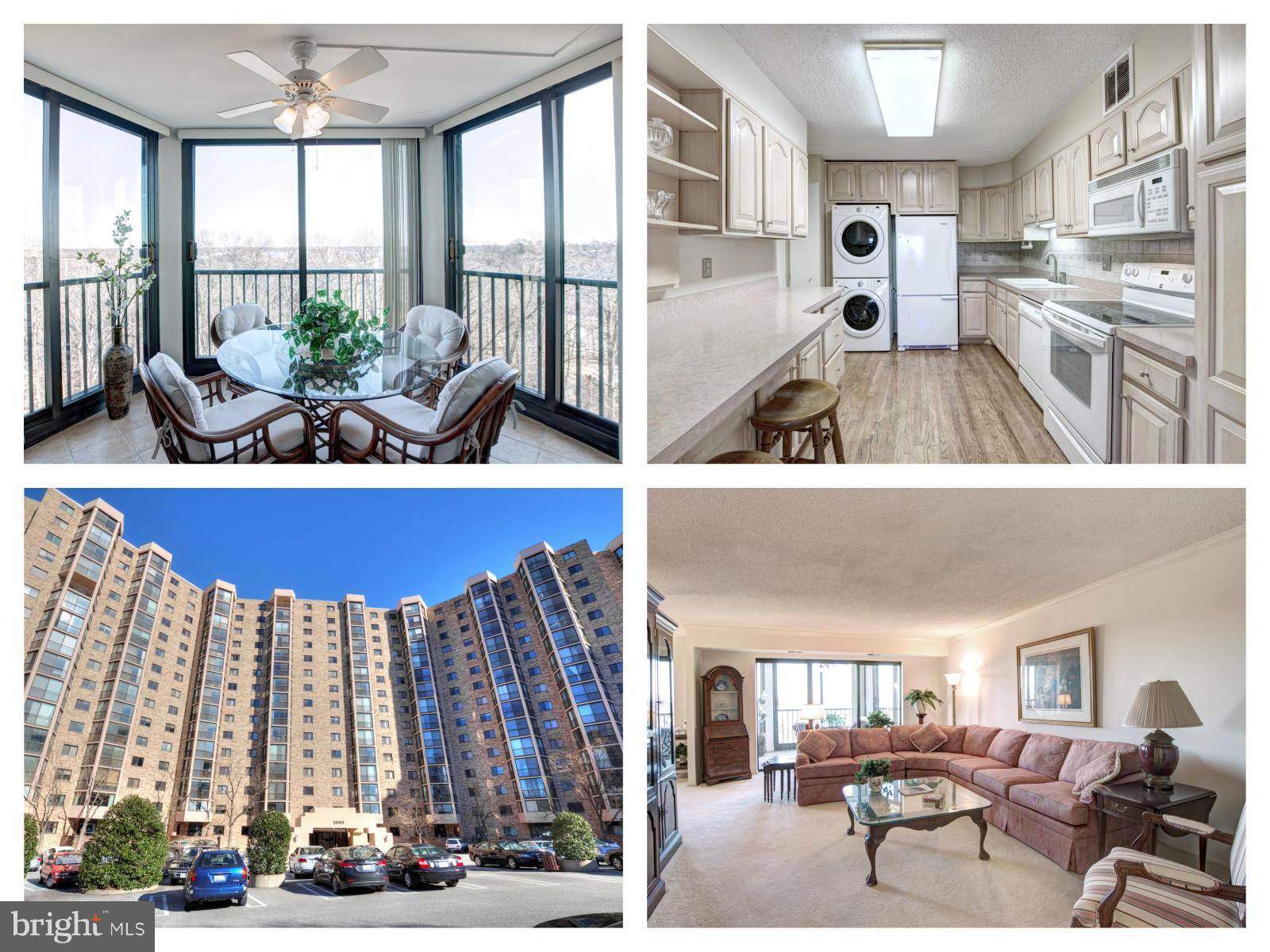 Rarely available 3 bed, 2 bath condo w/ 1,695 sf of living space at the Award Winning Montebello (2019 Condo of the Year Award). This well-maintained unit has two enclosed sunrooms/balconies with seasonal views overlooking the Potomac. Easy access to several commuting options including a short shuttle to the metro, minutes from I95 & I495. Multiple walk-in closets and plenty of storage in this oversized condo! Includes assigned garage parking space and a large storage unit. Amazing community amenities including a fitness center, indoor and outdoor swimming pools, a bowling alley, tennis courts and much more!